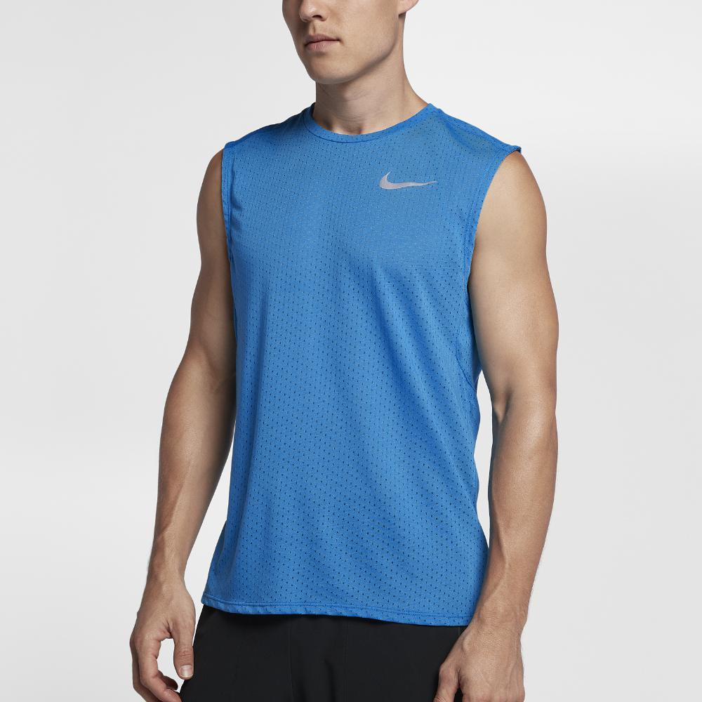 bc4f3392a8eaee Lyst - Nike Tailwind Men s Sleeveless Running Top in Blue for Men