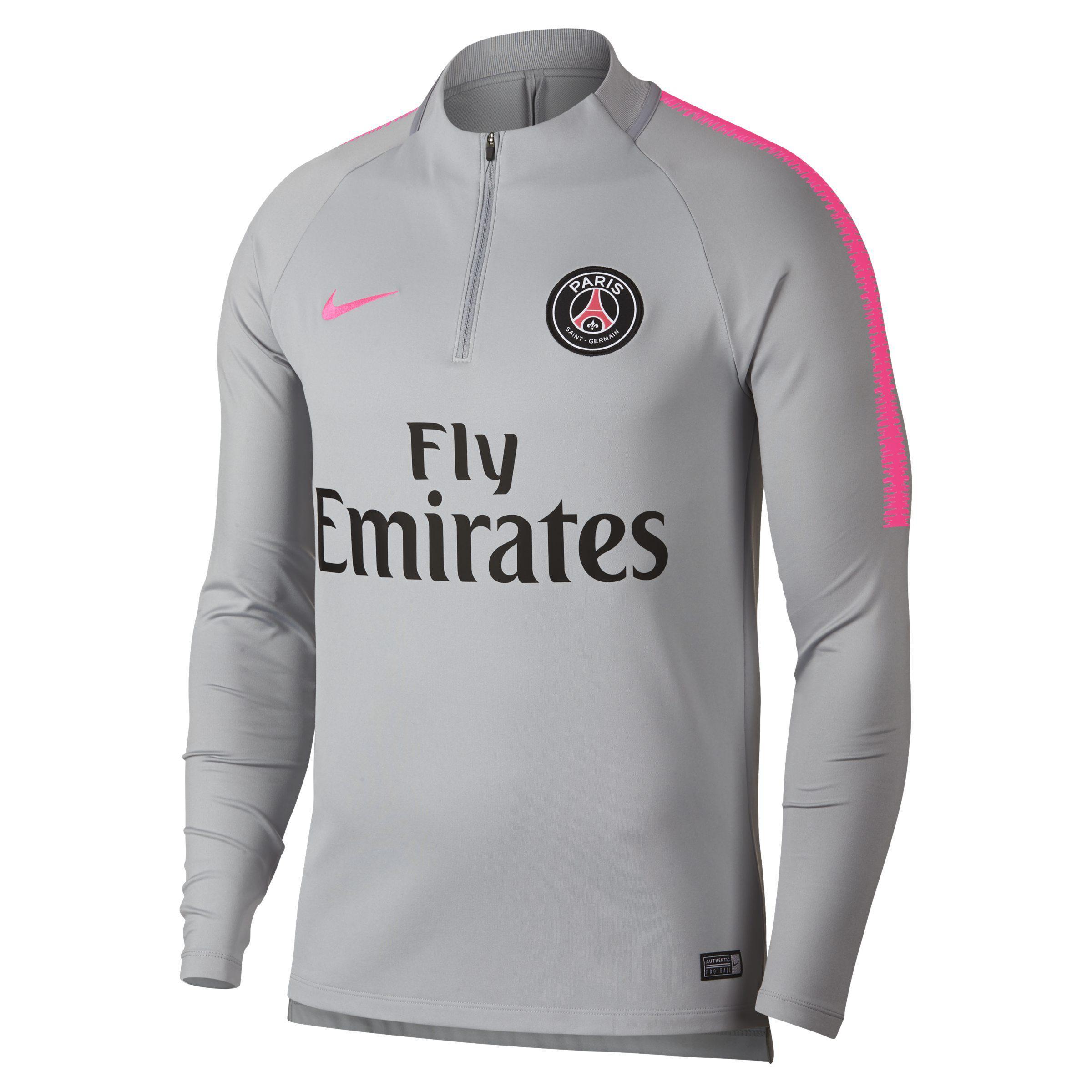 89884120c Nike Paris Saintgermain Drifit Squad Drill Men s Sweatshirt In Grey ...