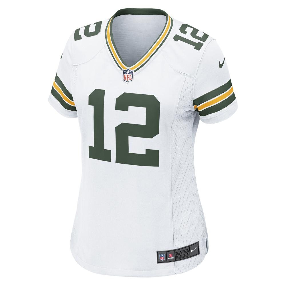 Nike. White Nfl Green Bay Packers (aaron Rodgers) Women s Football Away Game  Jersey 9db0910f6