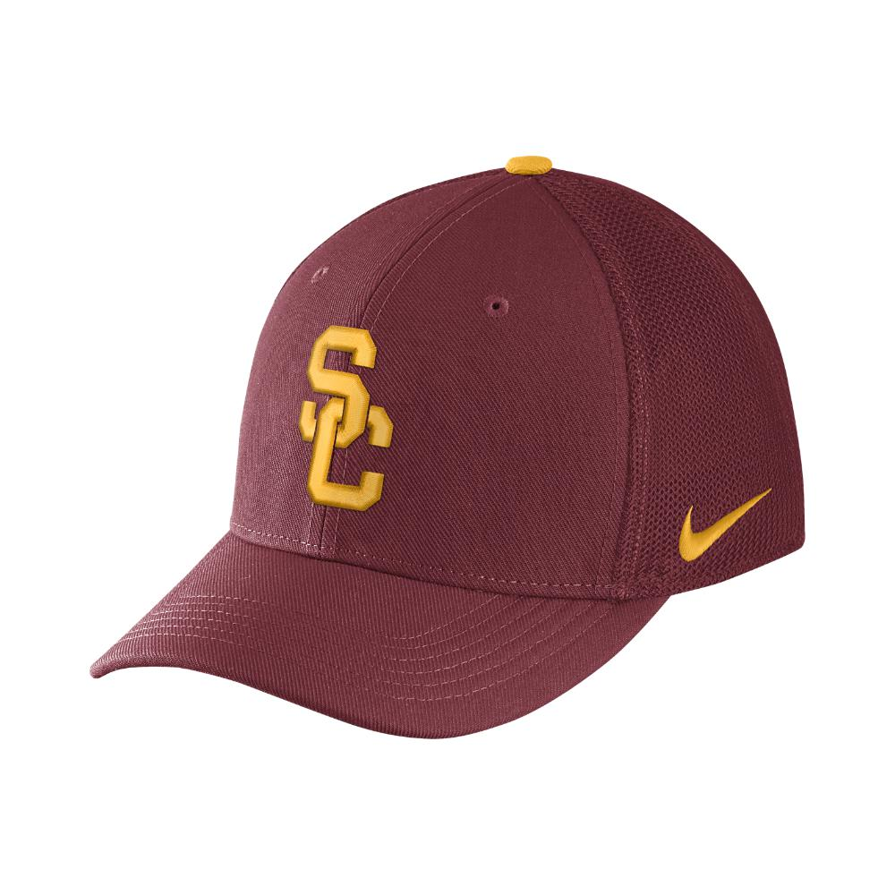 Lyst - Nike College Classic 99 Swoosh Flex (usc) Fitted Hat in Red ... c62d7960d839
