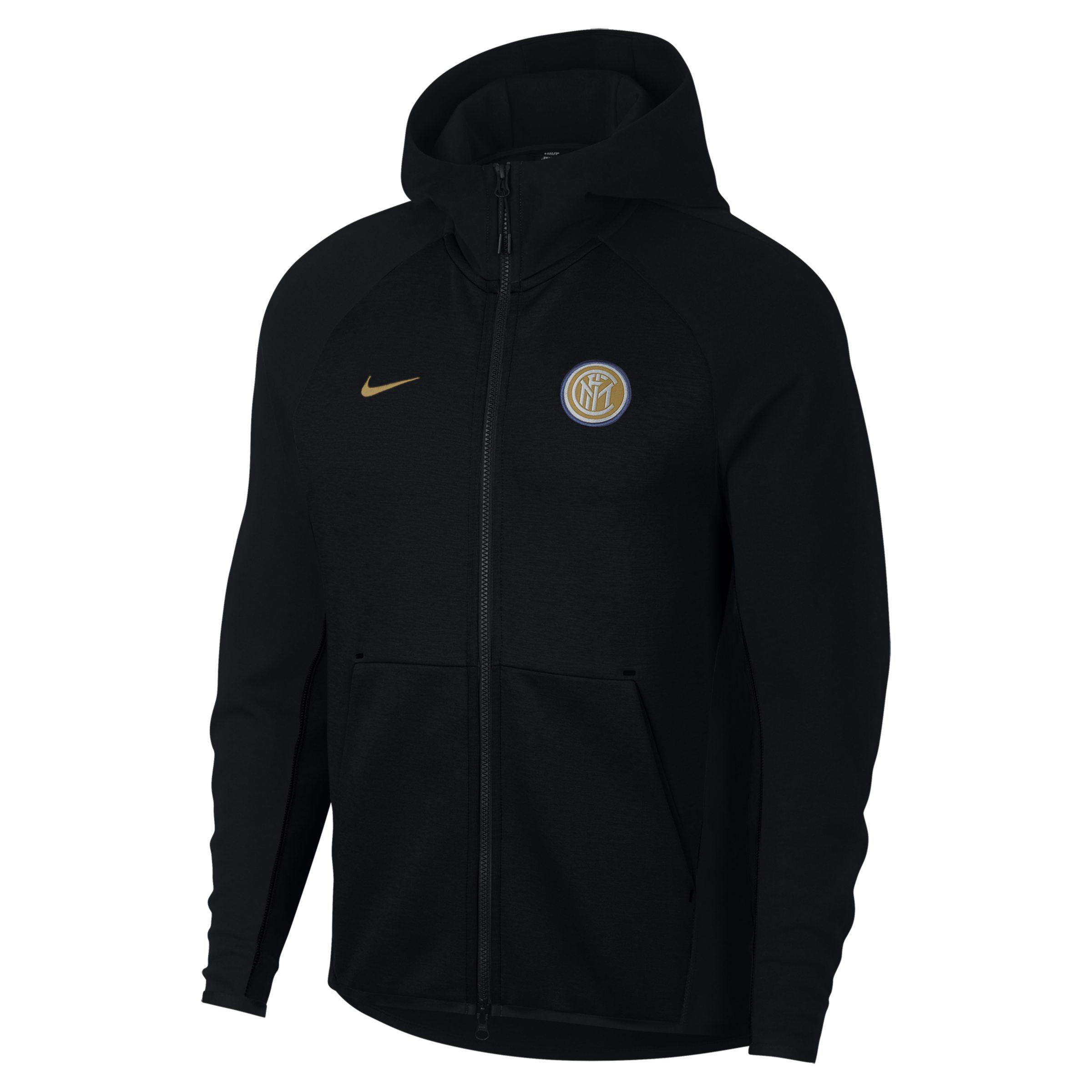 9077e0d08fc098 Nike Inter Milan Tech Fleece Full-zip Hoodie in Black for Men - Lyst