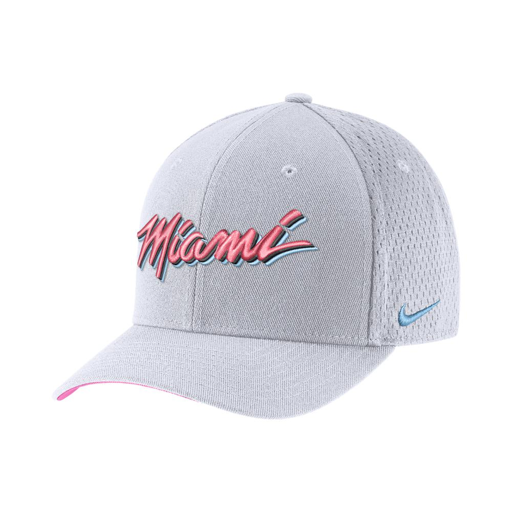 babdb53a6b9d1 Nike Miami Heat City Edition Classic99 Nba Hat (white) - Clearance ...