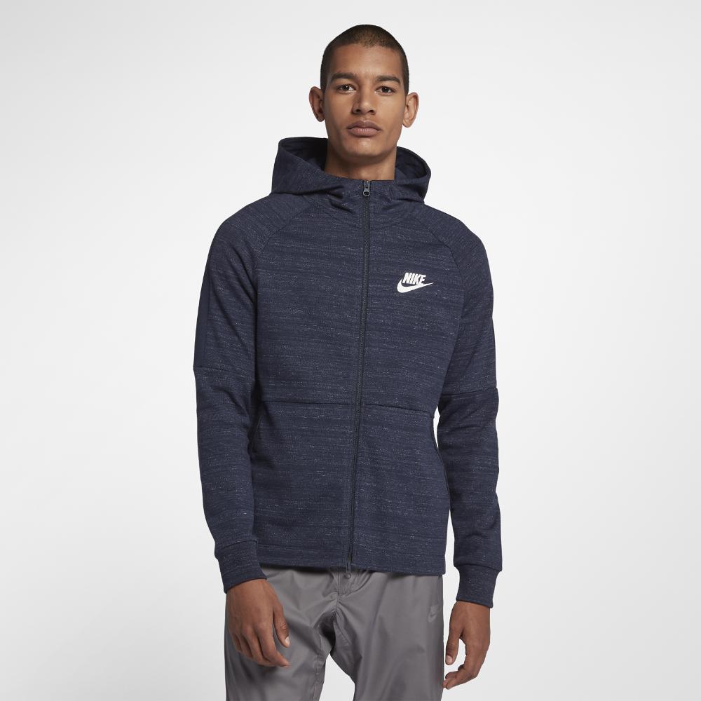9070ad976628 Lyst - Nike Sportswear Advance 15 Men s Full-zip Hoodie in Blue for Men