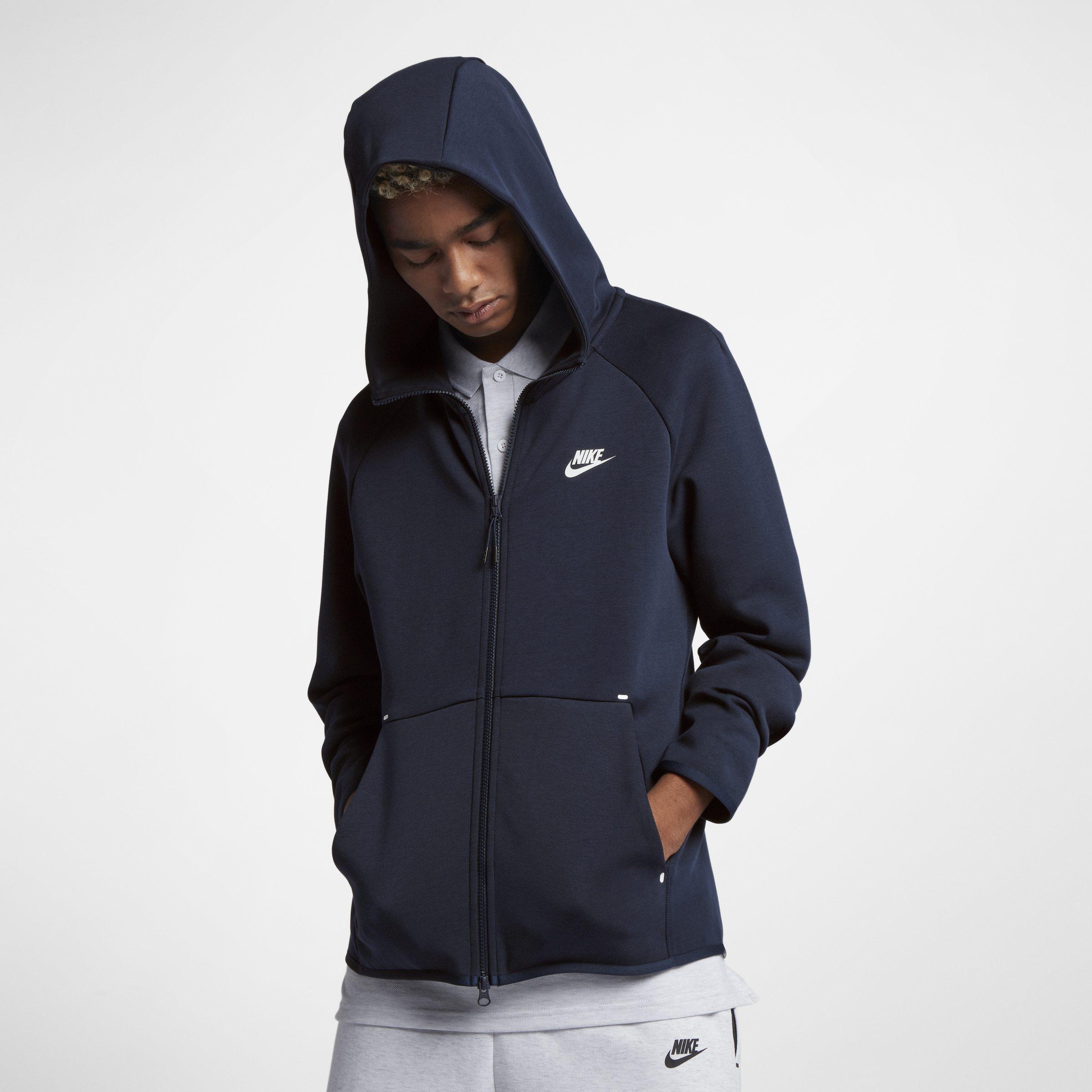 f0a180773bad Nike Sportswear Tech Fleece Full-zip Hoodie in Blue for Men - Lyst