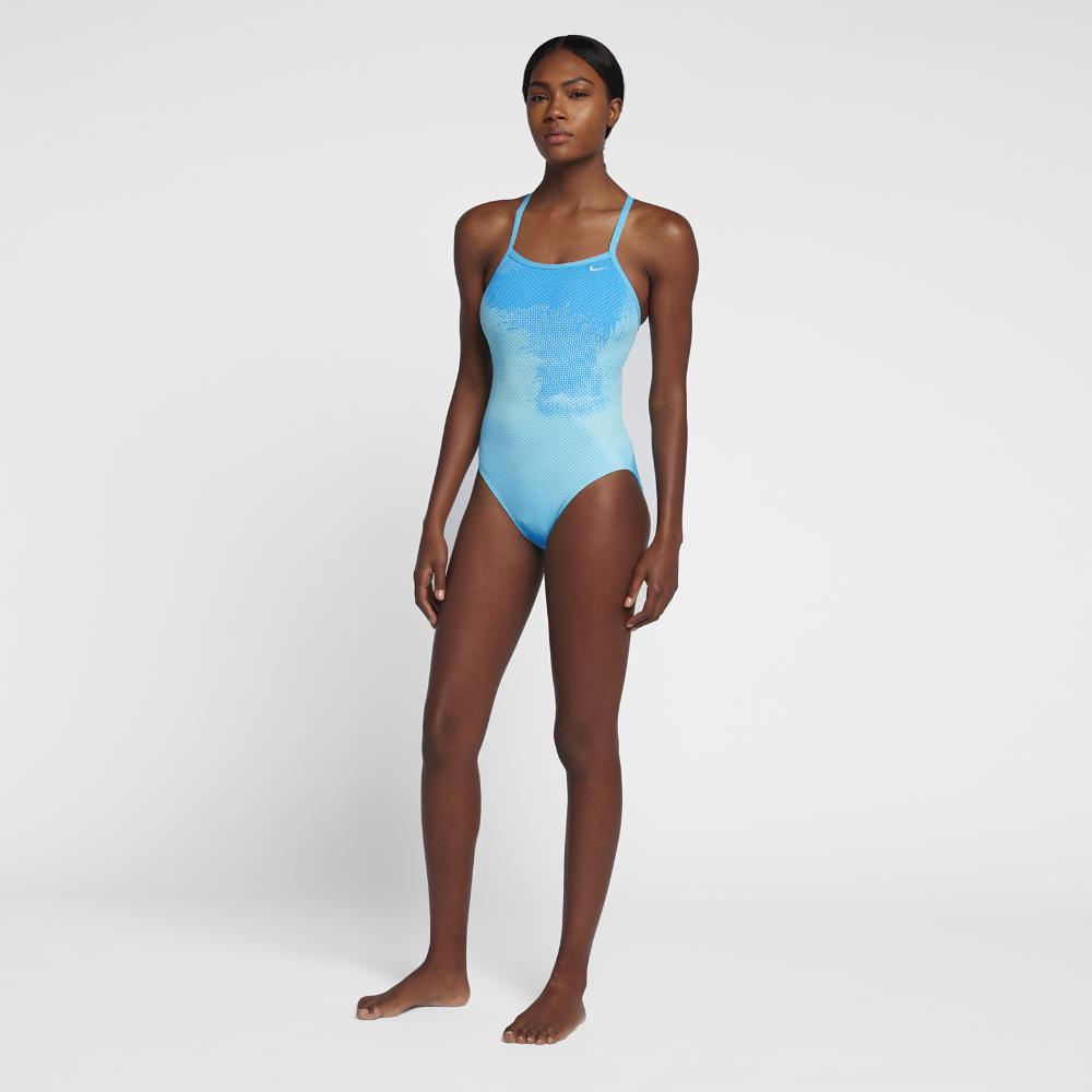 6c138dae6bd Lyst - Nike Blaze Lingerie Women's Tank Swimsuit in Blue