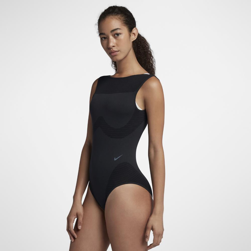 Lyst - Nike Seamless Studio Women s Training Bodysuit in Black 57b10b15d