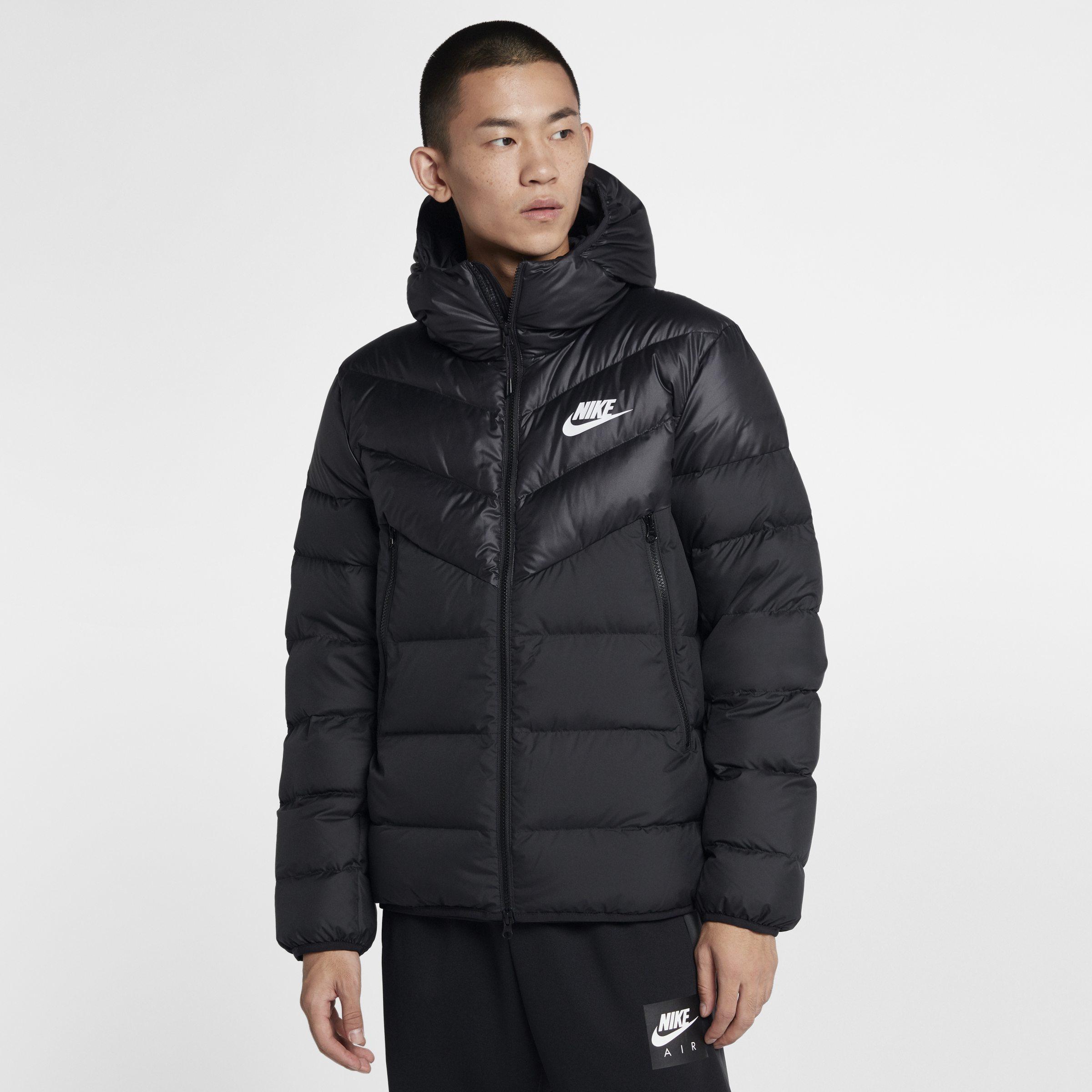 1b600a081c Nike Sportswear Windrunner Down Jacket in Black for Men - Lyst