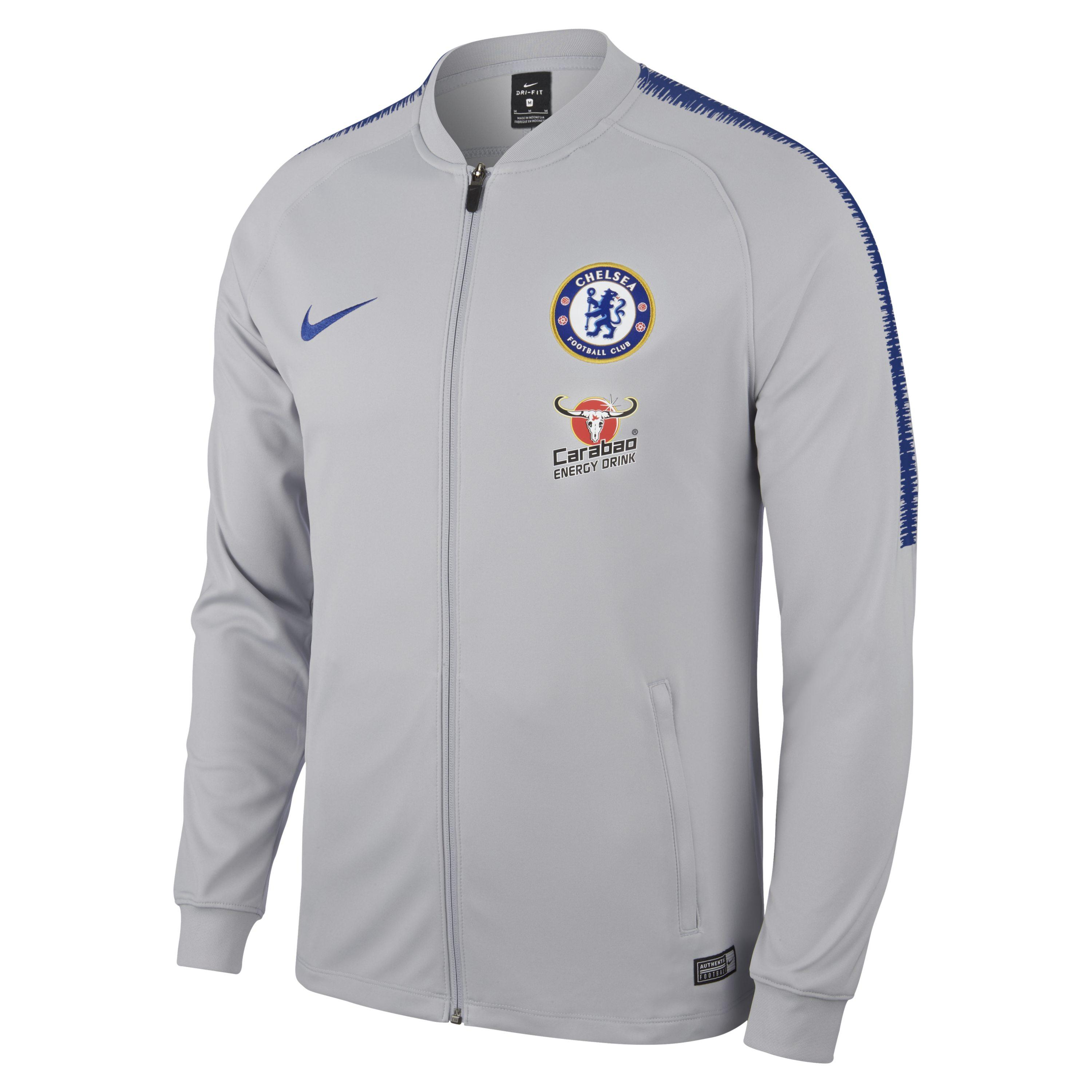 db5e84a47 Nike Chelsea Fc Dri-fit Squad Football Track Jacket in Gray for Men ...