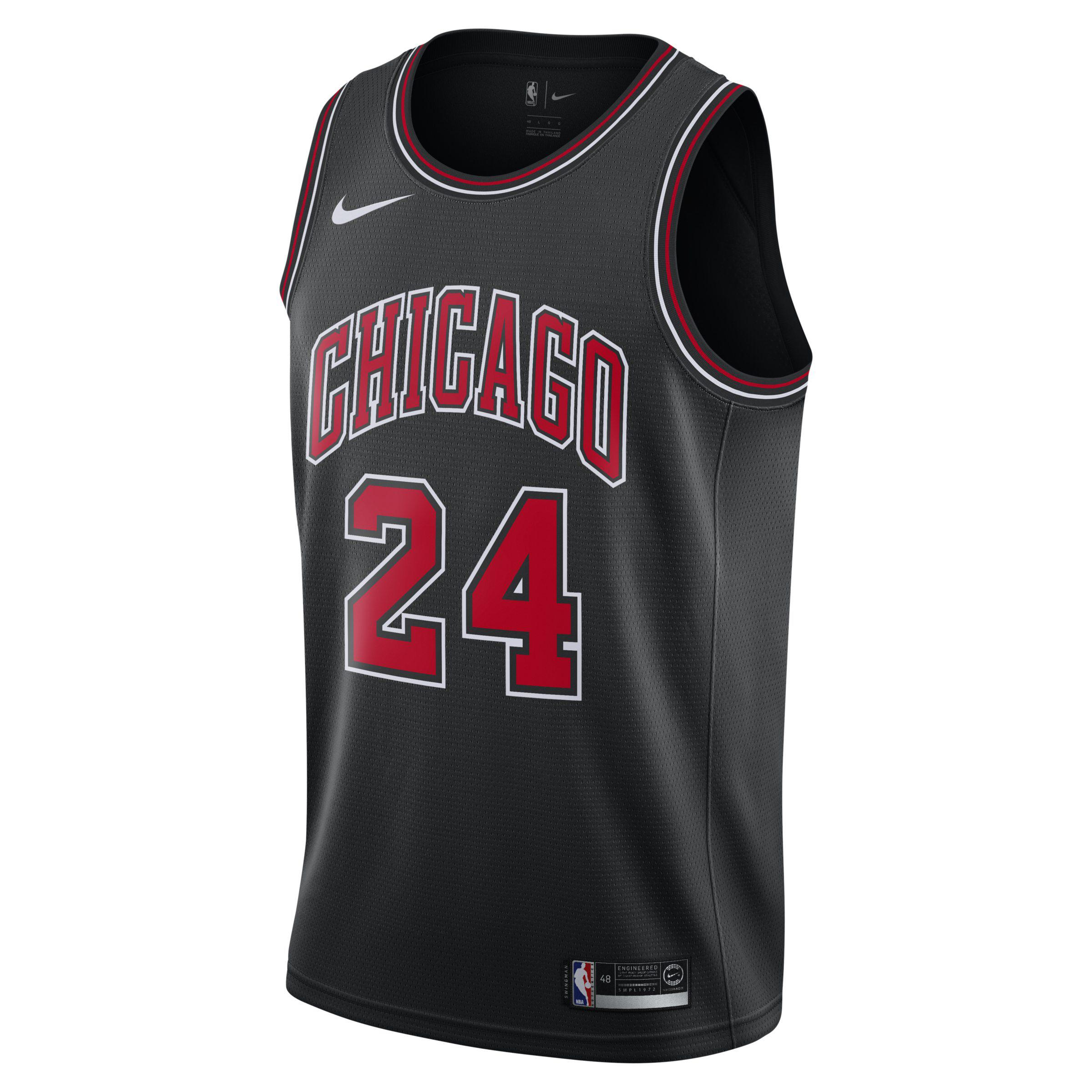 1905c98b118f Nike. Black Lauri Markkanen Statement Edition Swingman (chicago Bulls) Nba  Connected Jersey