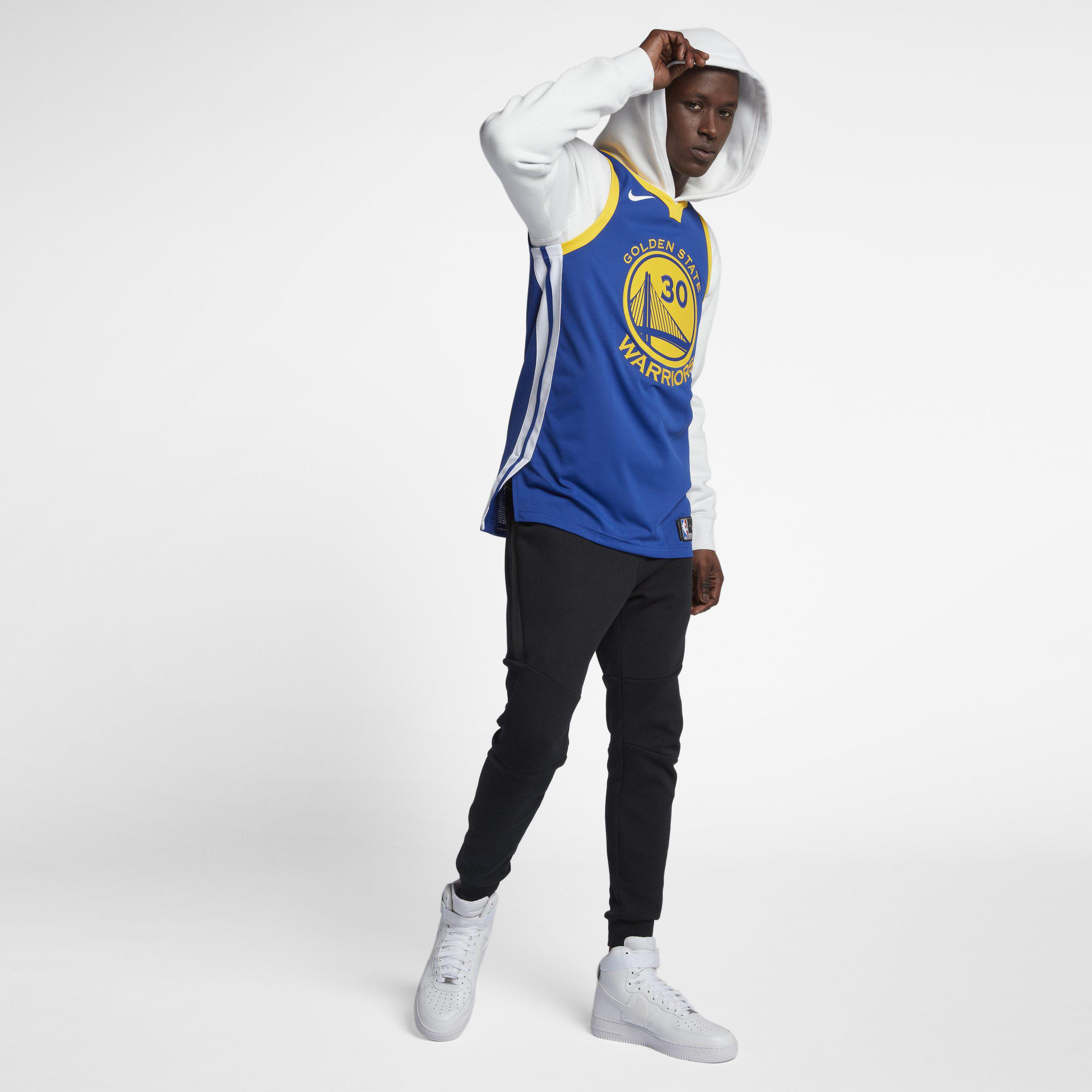ada4c1767 Nike. Blue Stephen Curry Icon Edition Authentic Jersey (golden State  Warriors) Men s ...