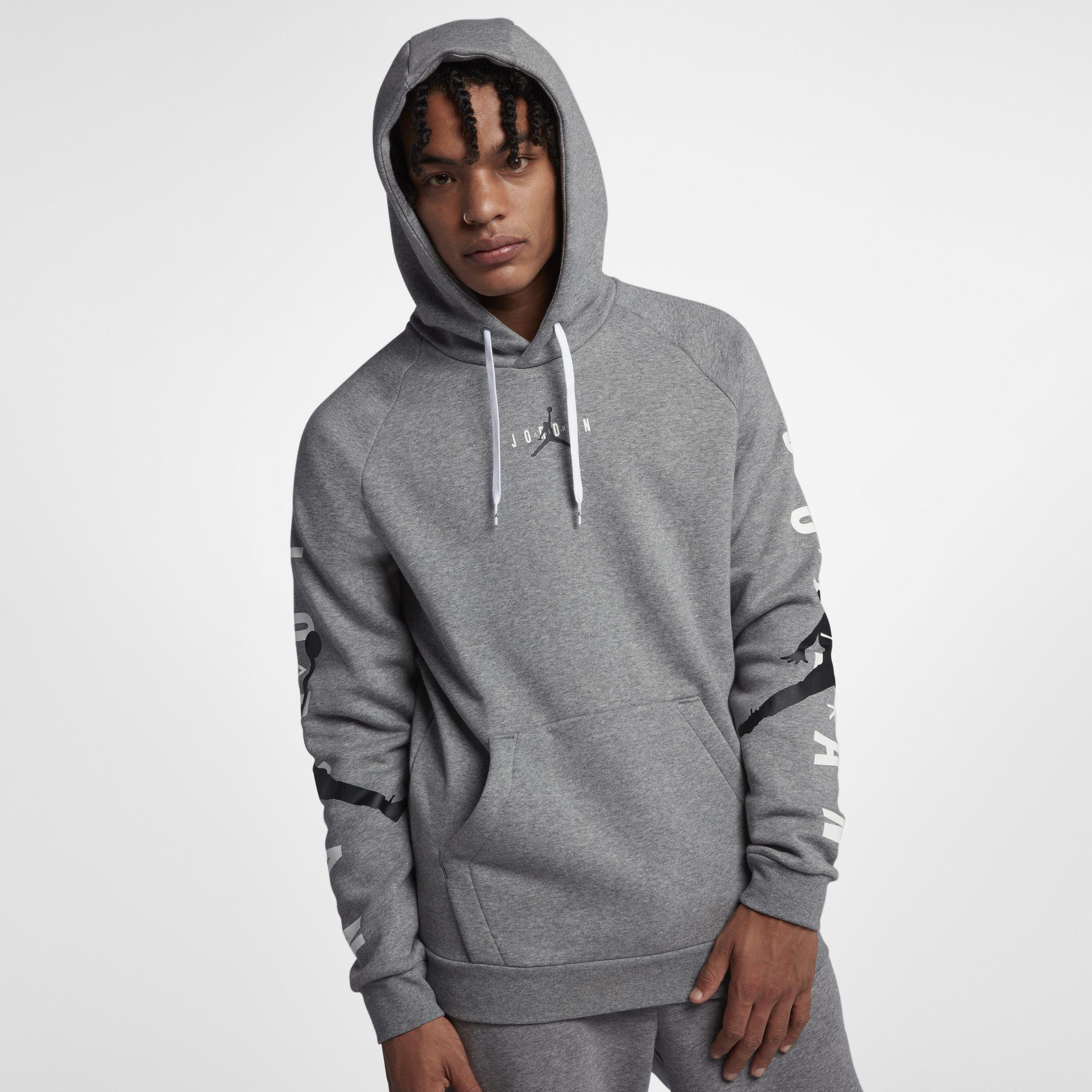 50a803c5643001 Nike Jordan Jumpman Air Pullover Hoodie in Gray for Men - Lyst