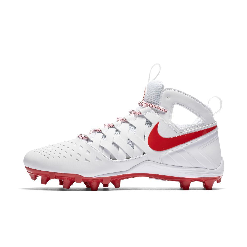 Nike. White Huarache V Lacrosse Cleat (men's ...