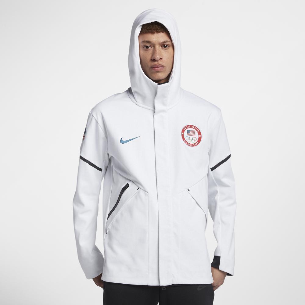 48acd5a681 Lyst - Nike Tech Fleece Team Usa Windrunner Men s Jacket in White ...