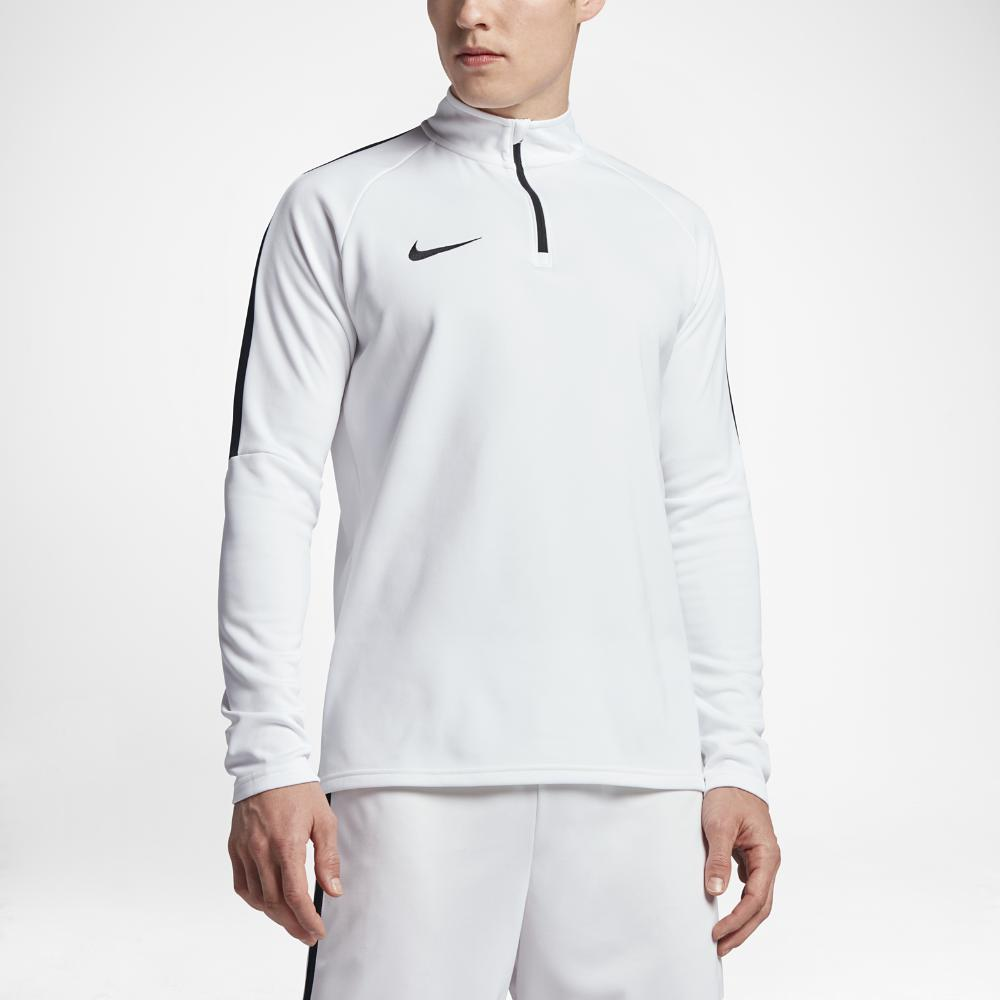 fc794b63c540 Lyst - Nike Dry Academy Men s 1 4 Zip Soccer Drill Top in White for Men