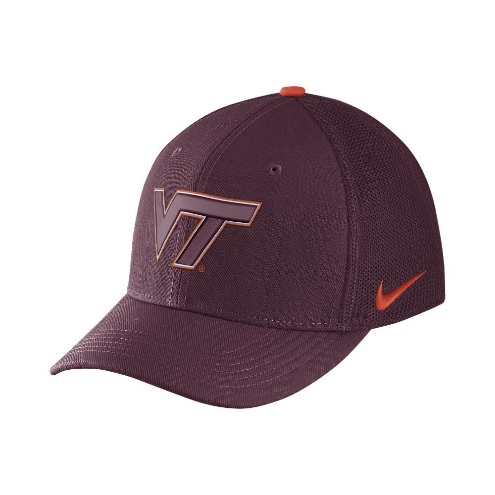 Nike. Men s Purple College Classic 99 Swoosh Flex (virginia Tech) Fitted Hat 3ad55922ac16