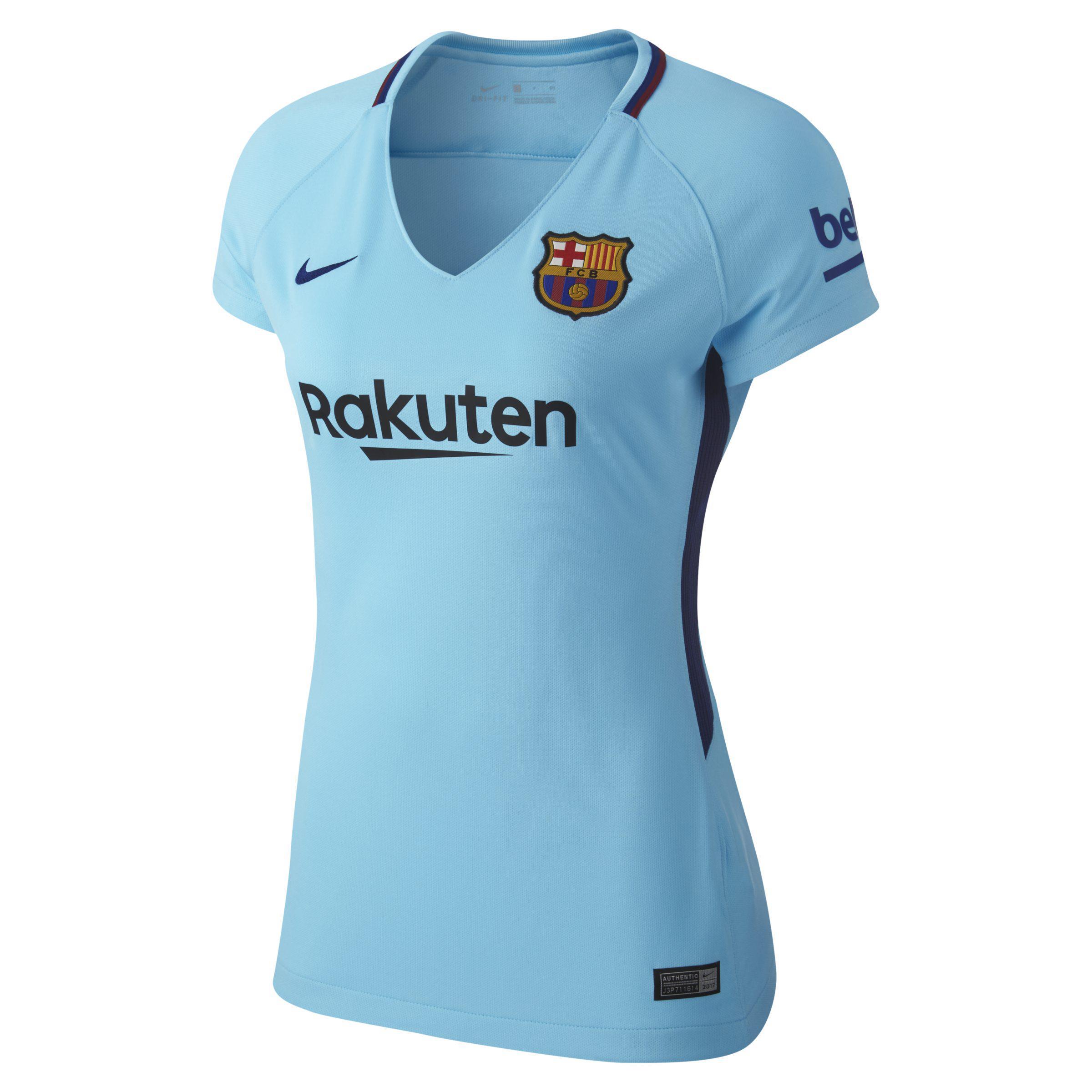 7922bd8bf5d6 Nike 2017 18 Fc Barcelona Stadium Away Football Shirt in Blue - Lyst