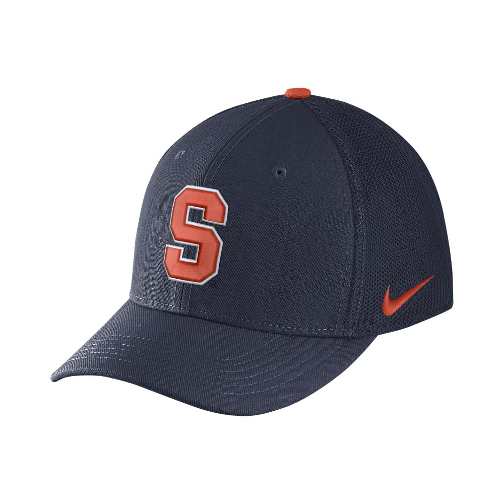 02842b9ffe1 ... new zealand lyst nike college classic 99 swoosh flex syracuse fitted hat  in e33aa e2083