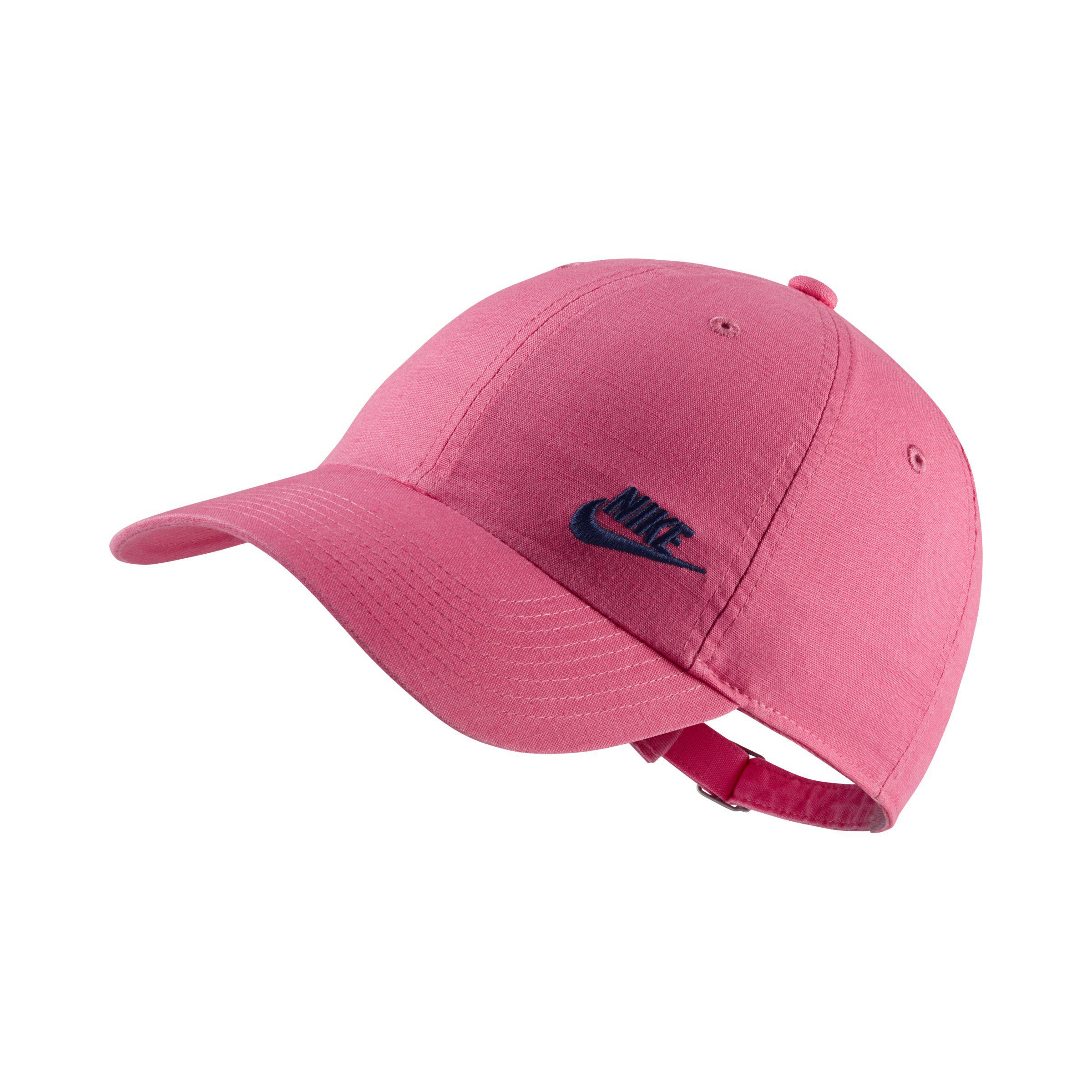 Nike Sportswear Heritage 86 Futura Adjustable Hat in Pink - Lyst a94d161c92c