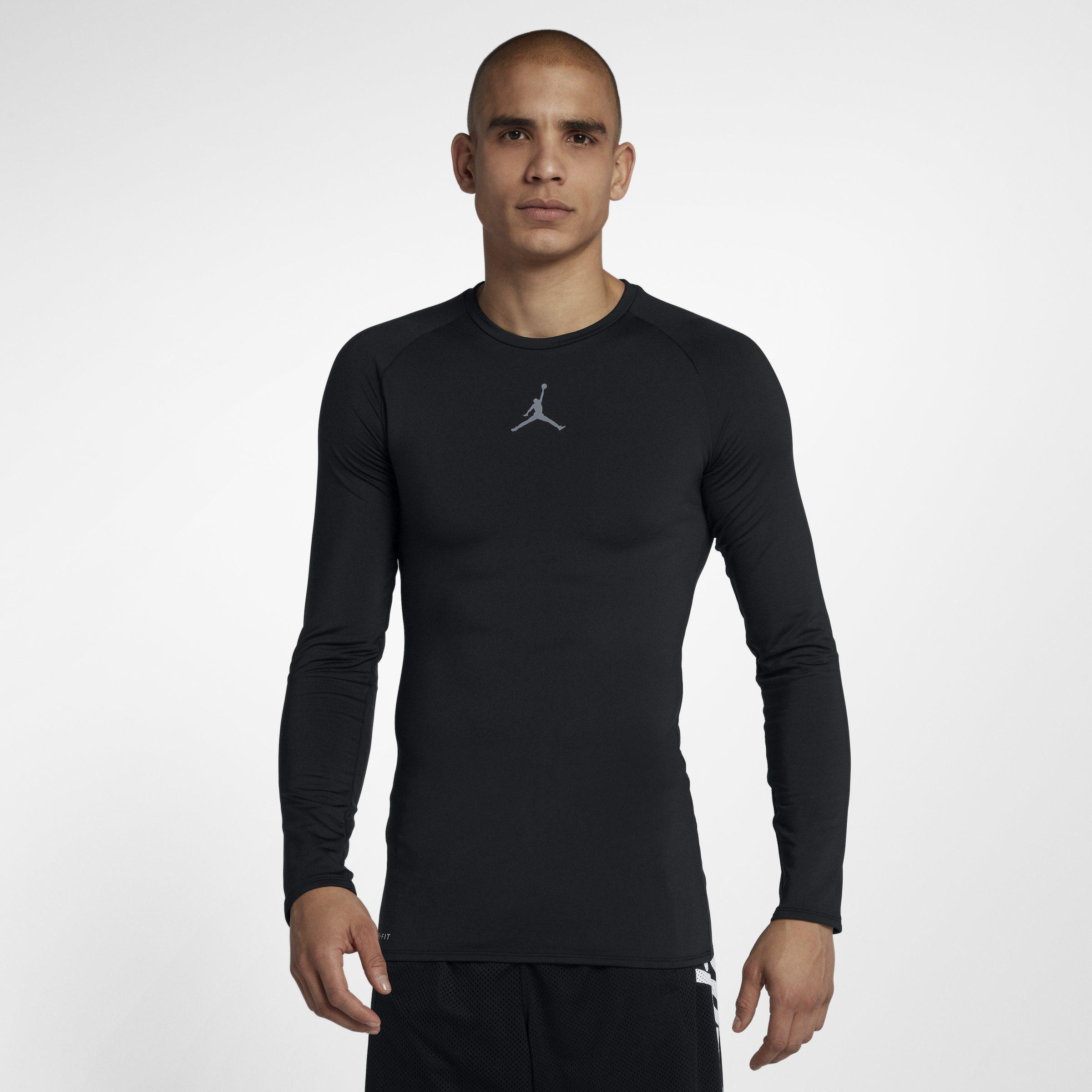 fbc4e6e7343b Nike Jordan 23 Alpha Long-sleeve Basketball Top in Black for Men - Lyst