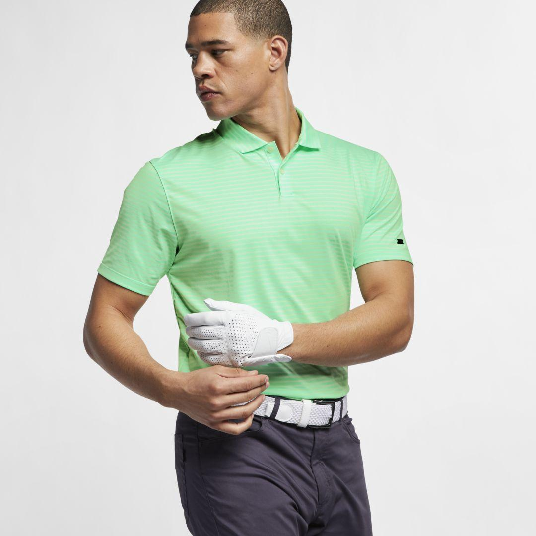 2417020e Nike Dri-fit Tiger Woods Vapor Striped Golf Polo in Green for Men ...
