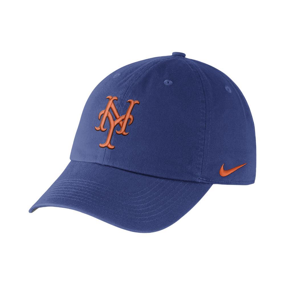competitive price ae3c9 c94a9 Nike. Men s Heritage 86 Stadium (mlb Mets) Adjustable Hat ...