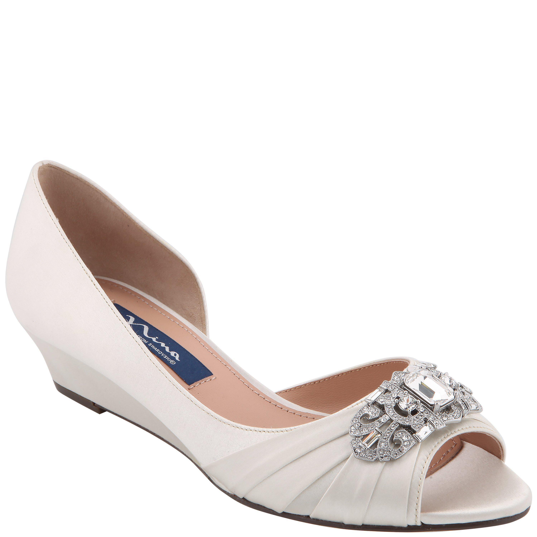 c550b095d05e Lyst - Nina Radha-ivory Satin in White