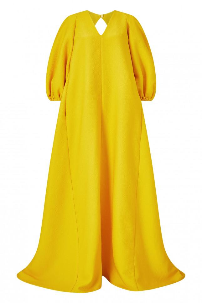 Emilia Wickstead Octavia Gown With Hood in Metallic - Lyst