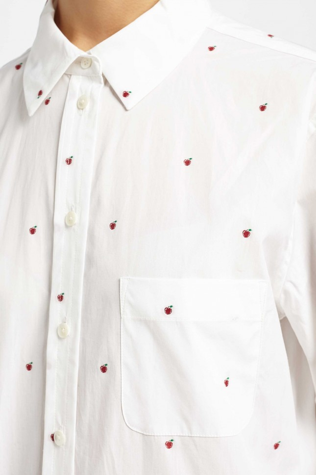 how to mirror iphone to ipad equipment embroidered kenton shirt in white lyst 6440