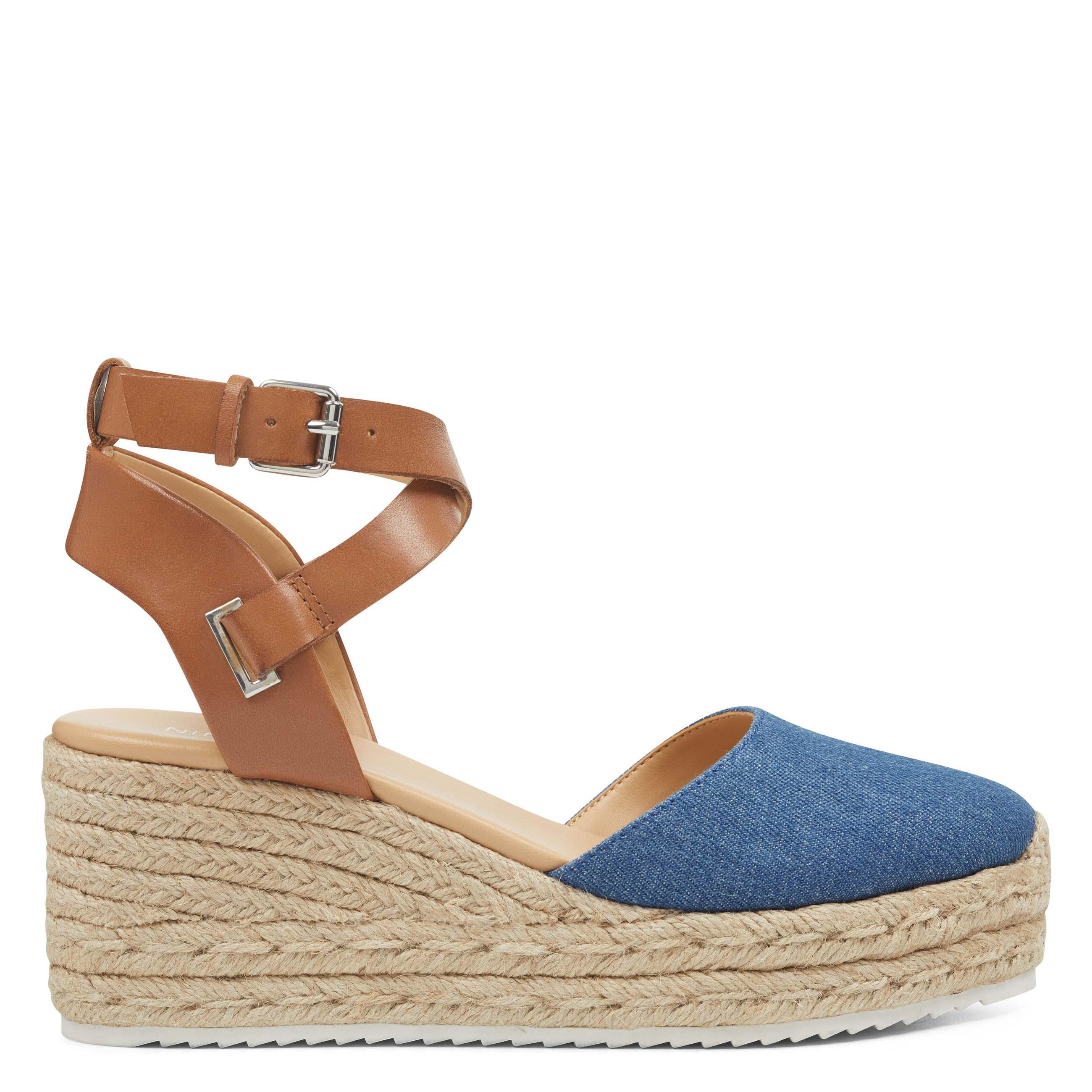 00897c81d455 Lyst - Nine West Ava Espadrille Wedge Sandals in Blue