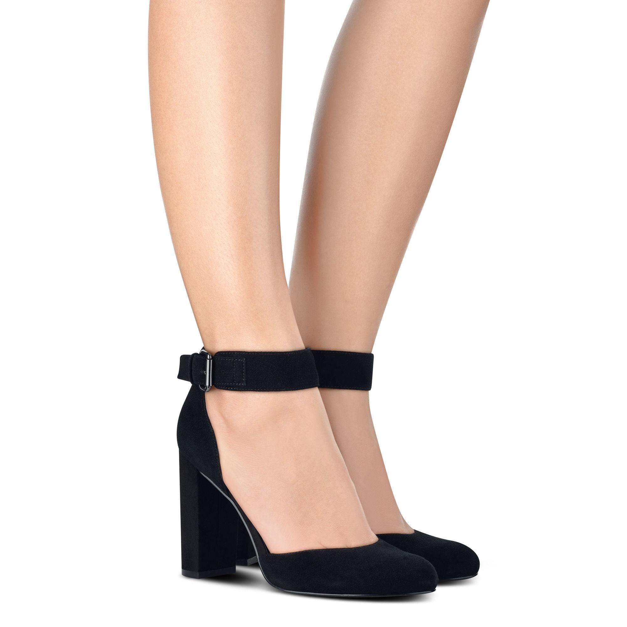 Lyst Nine West Lynnora Ankle Strap Pumps In Black