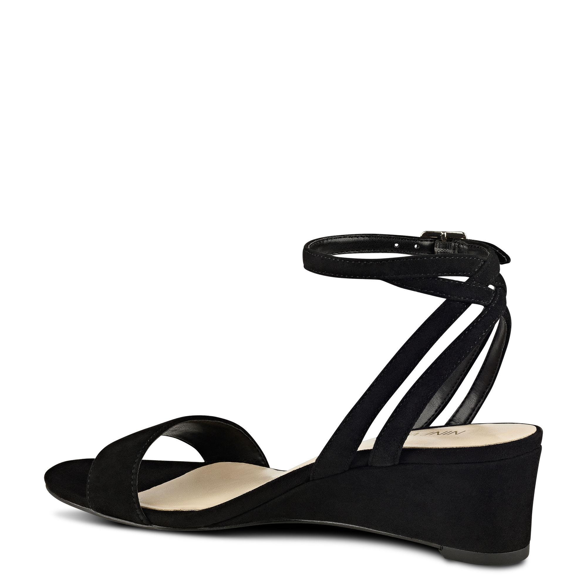 Nine West Lewer Wedge Sandals In Black Lyst