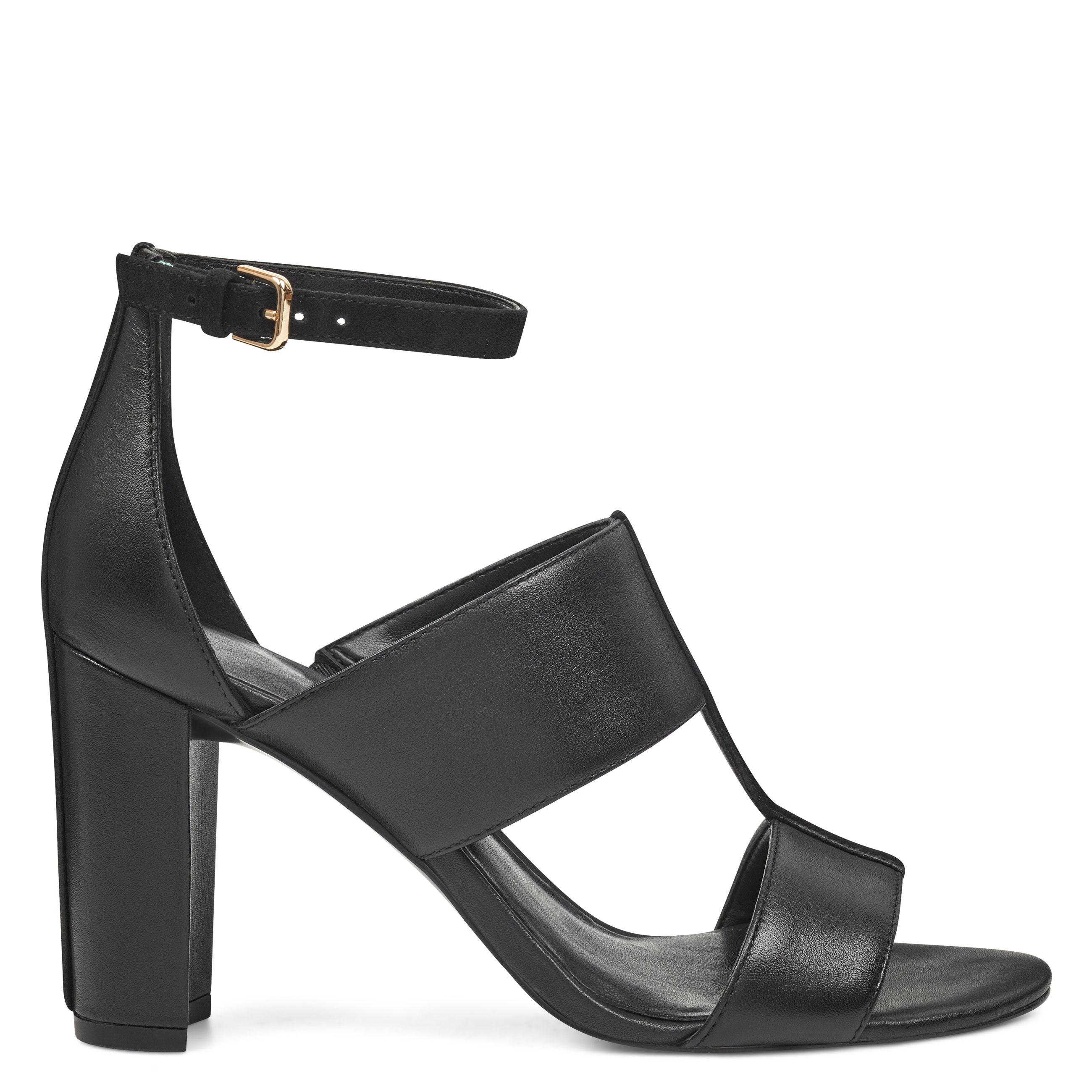 cc53e36375bb Lyst - Nine West Nohea Open Toe Sandals in Black