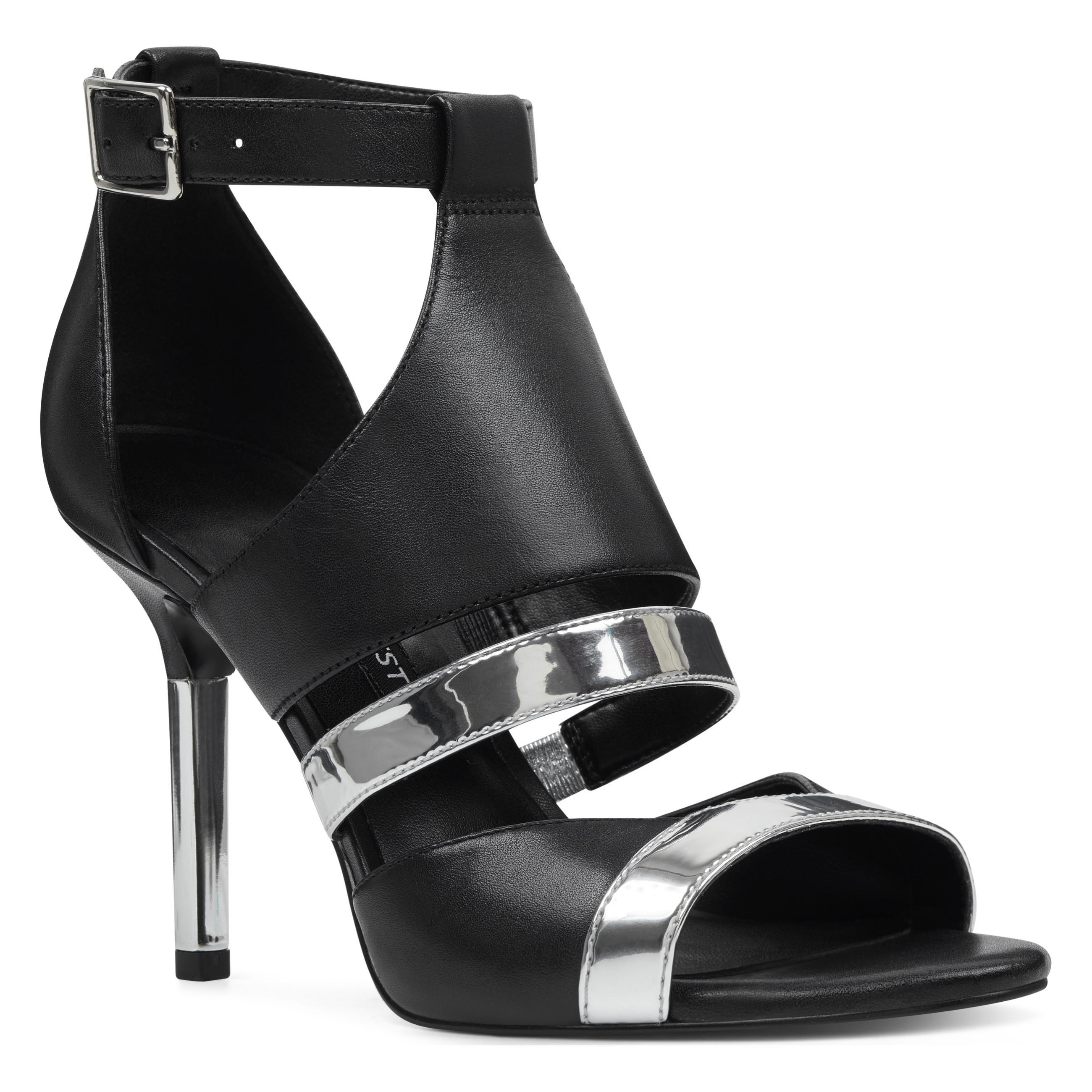 9e6361c64a8093 Nine West - Black Brianna Caged Sandals - Lyst. View fullscreen