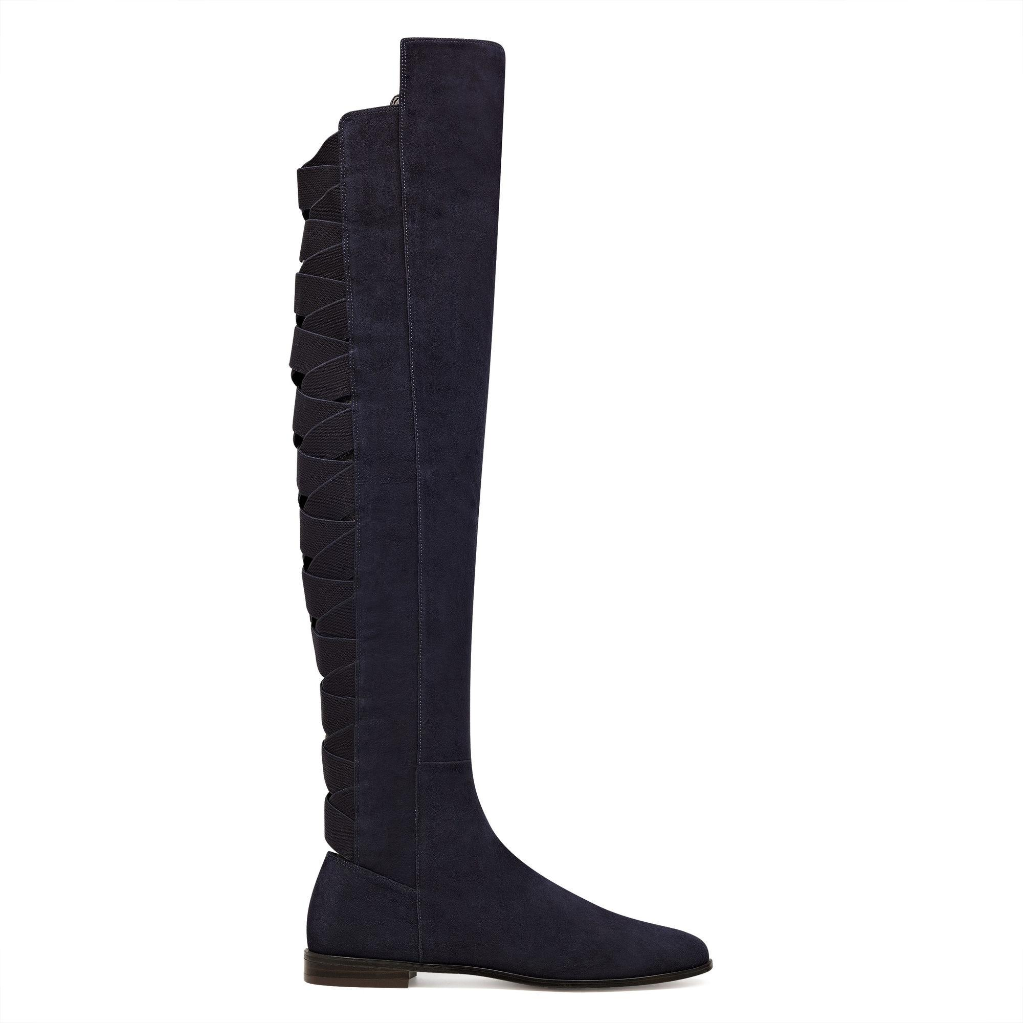 757b4d9dbdf Lyst - Nine West Eltynn Over The Knee Boots in Blue