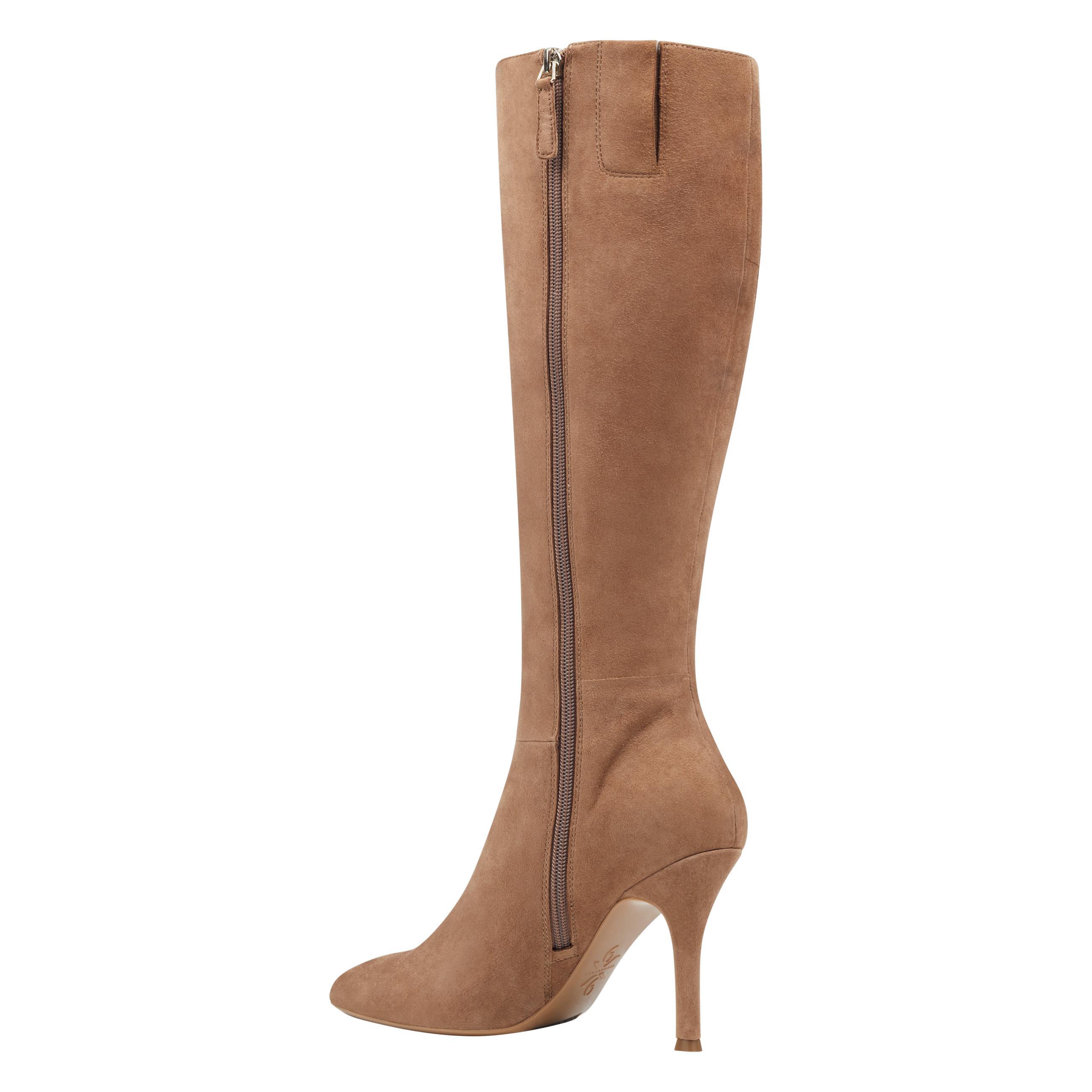 fee82b526da7 Nine West - Brown Fame Wide Calf Knee High Boots - Lyst. View fullscreen