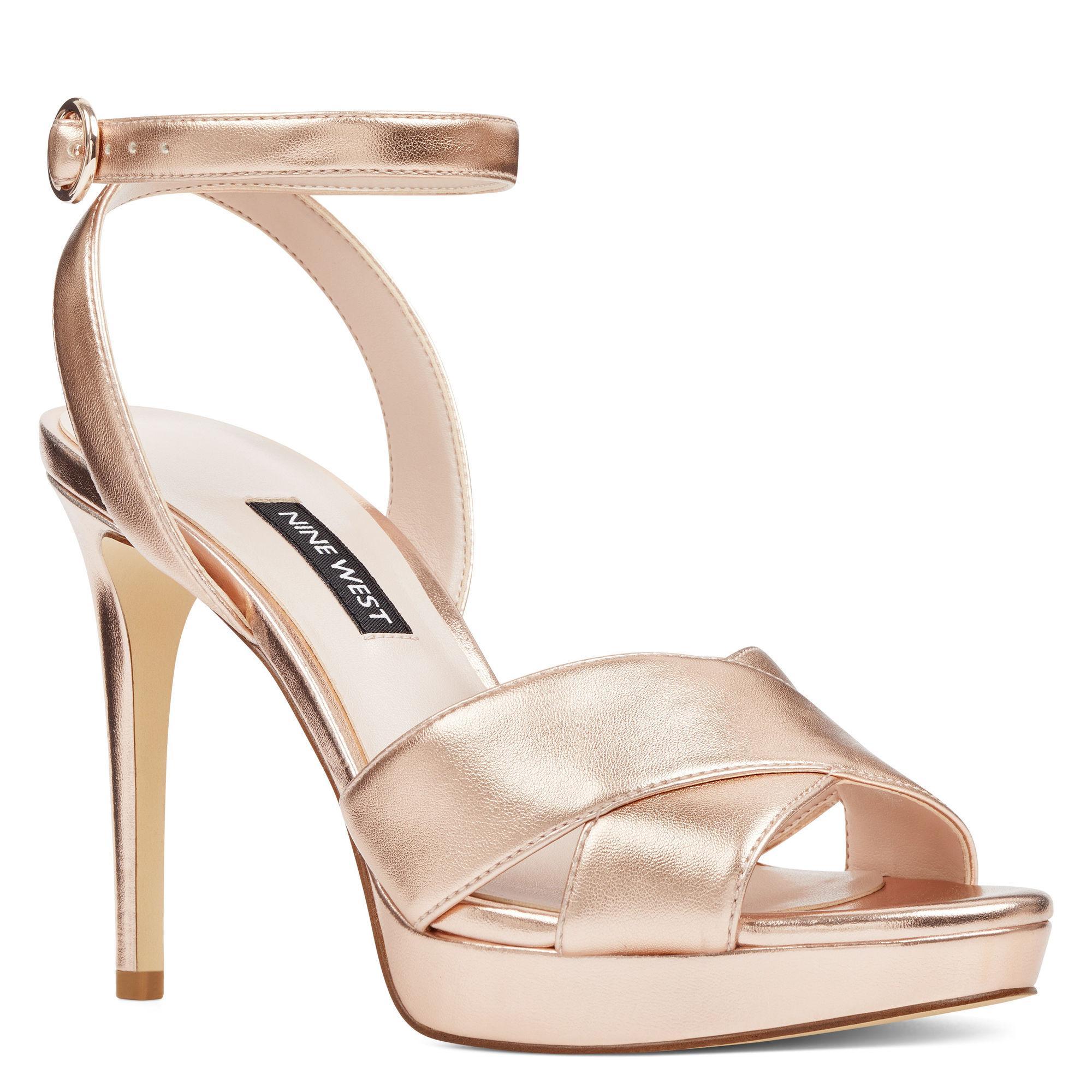 201ed20ab0d0 Lyst - Nine West Quisha Ankle Strap Sandals