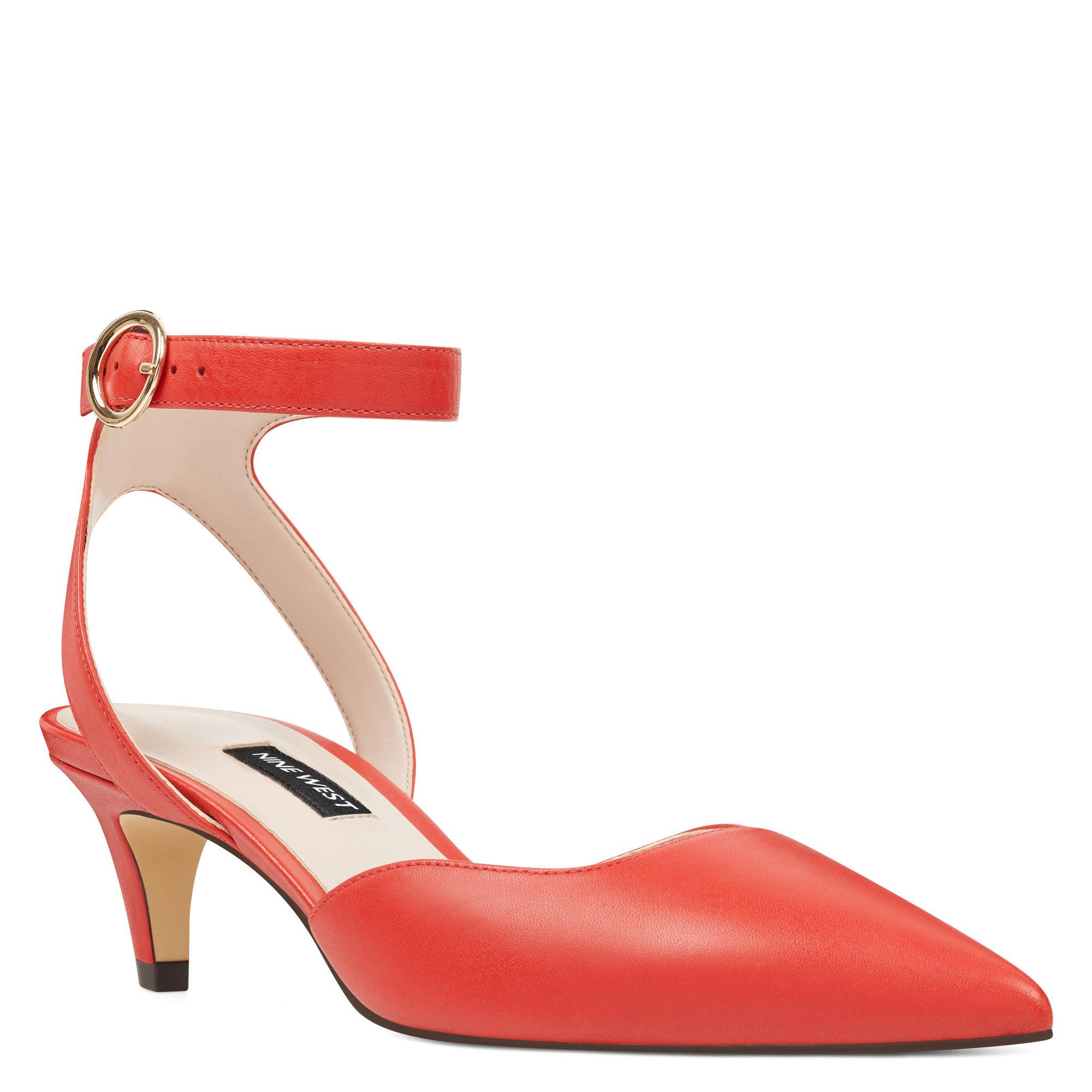 2313a6ed2f9 Lyst - Nine West Quinteena Ankle Strap Pumps in Red