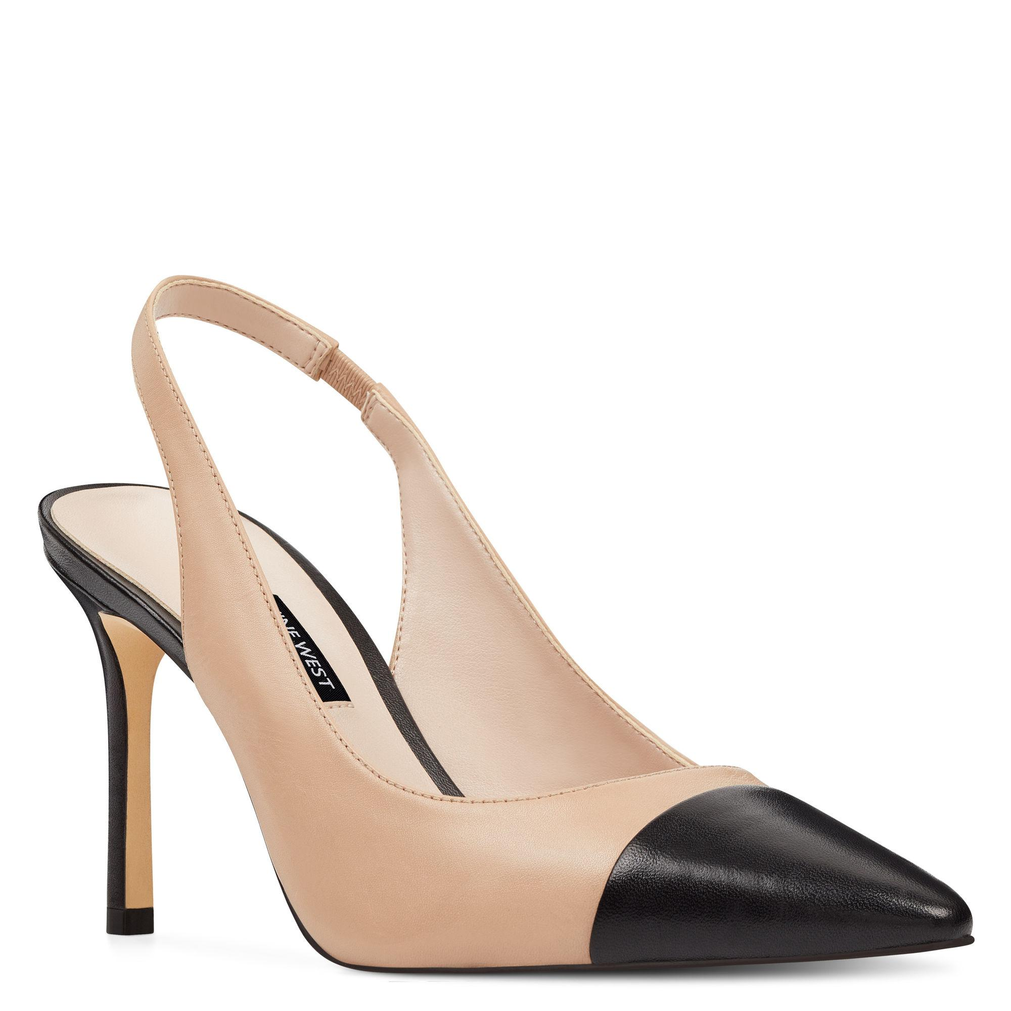 bc6b0444a01 Lyst - Nine West Exuberate Slingback Pumps in Natural