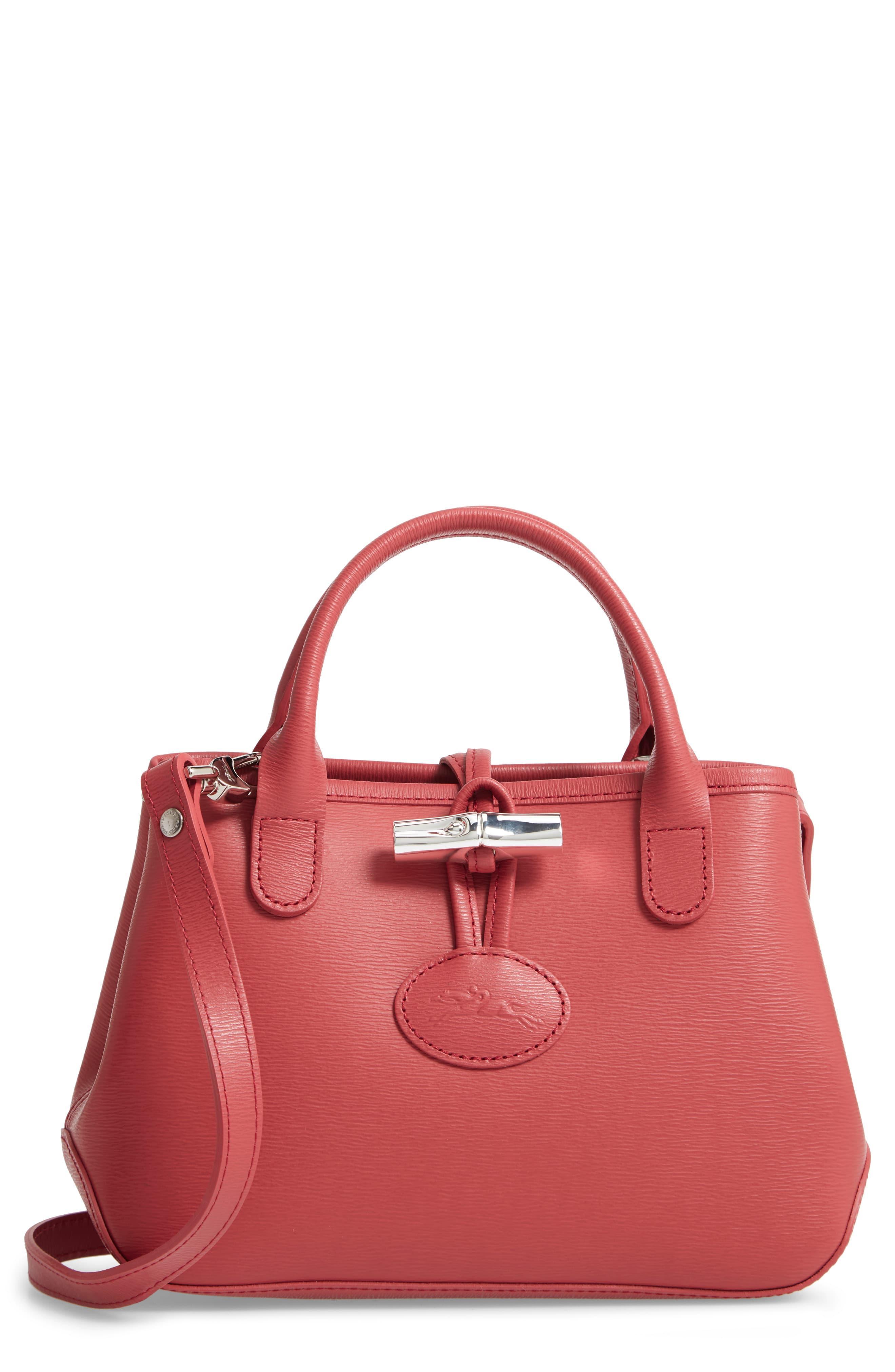 7baad433a Longchamp - Multicolor Mini Roseau Leather Crossbody Bag - Lyst. View  fullscreen