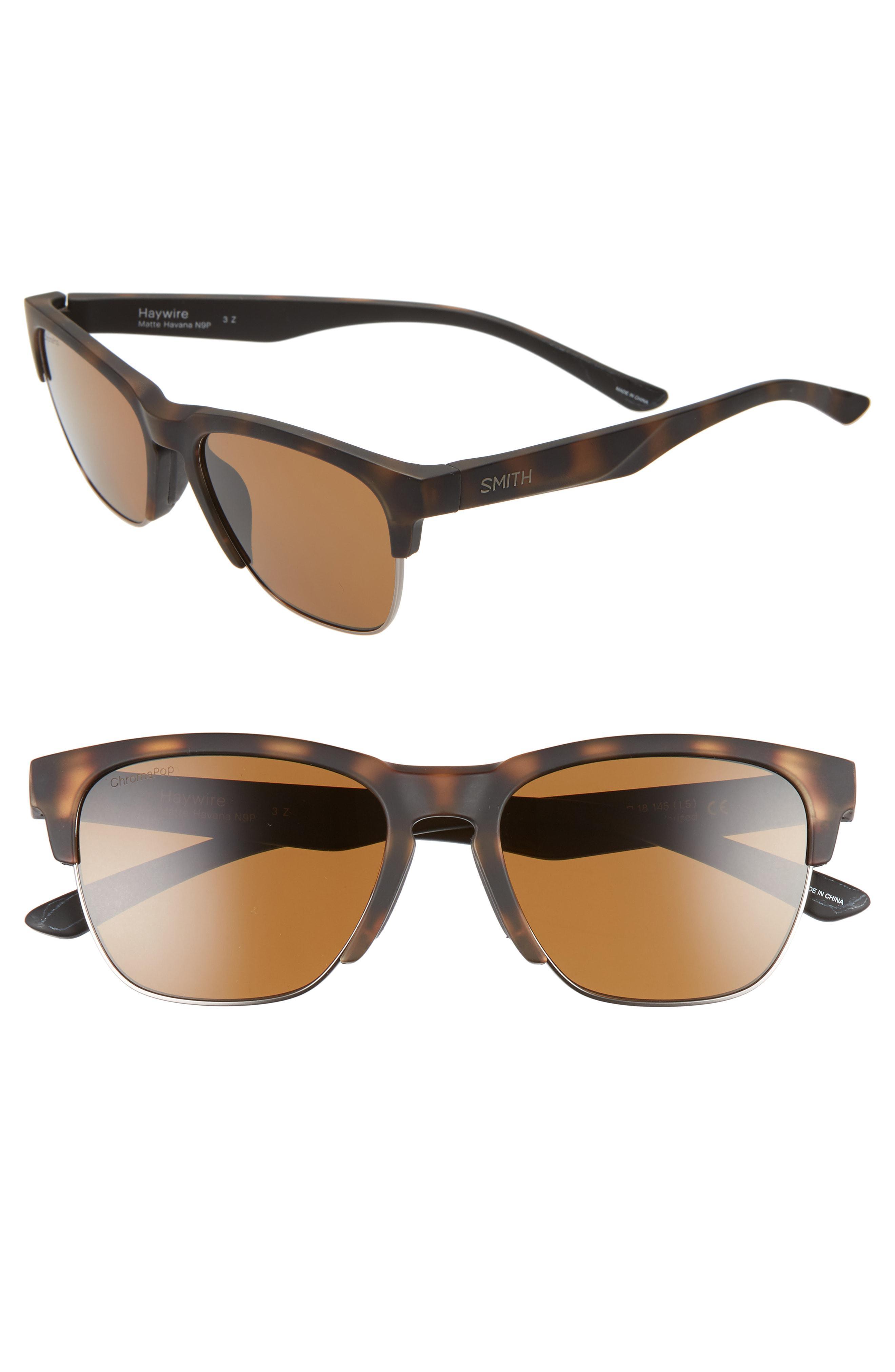 453a1000f3b Smith - Brown Haywire 55mm Chromapop(tm) Polarized Sunglasses - Lyst. View  fullscreen