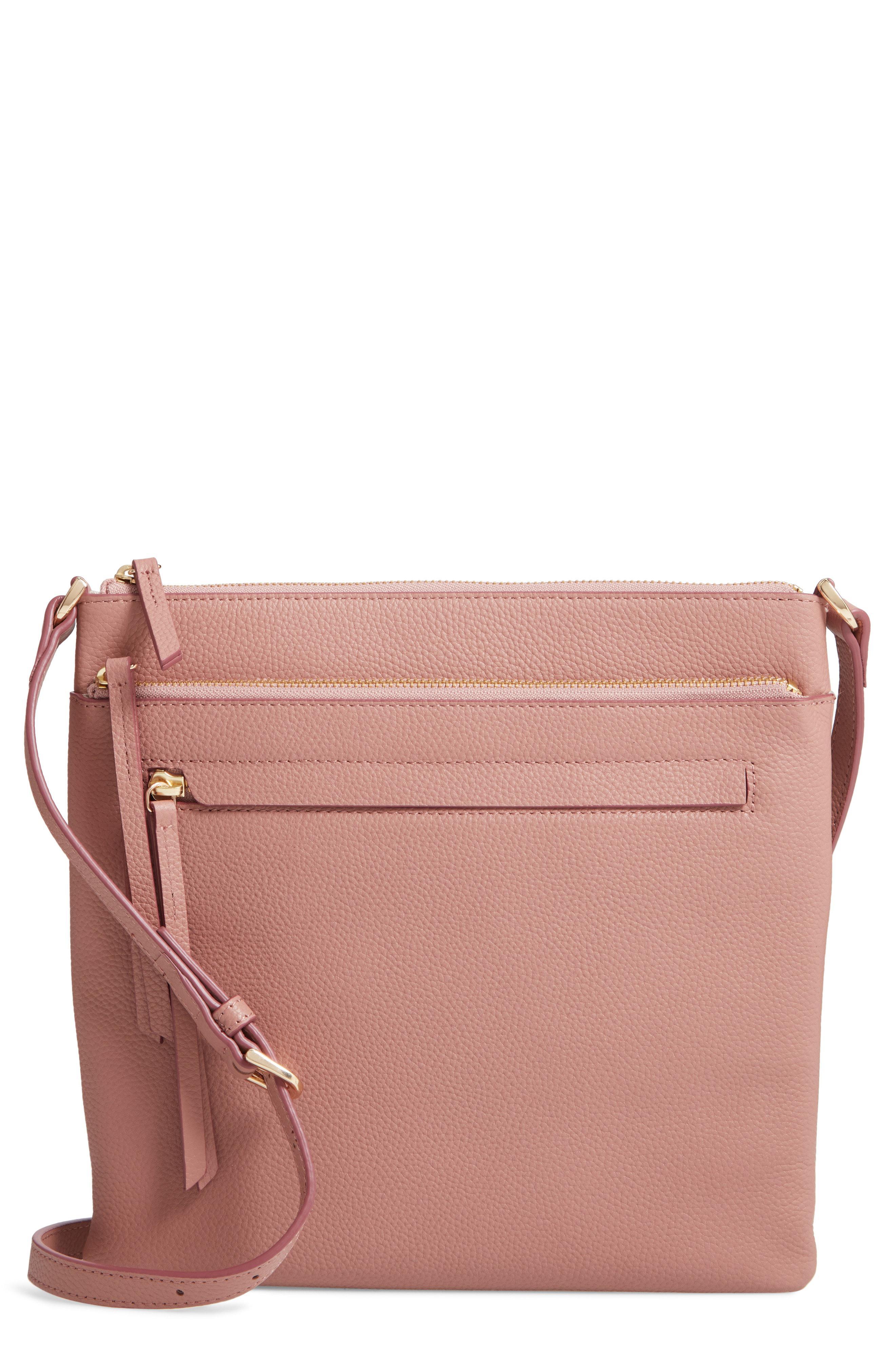 Lyst - Nordstrom Finn Leather Crossbody Bag - in Pink 617f908090