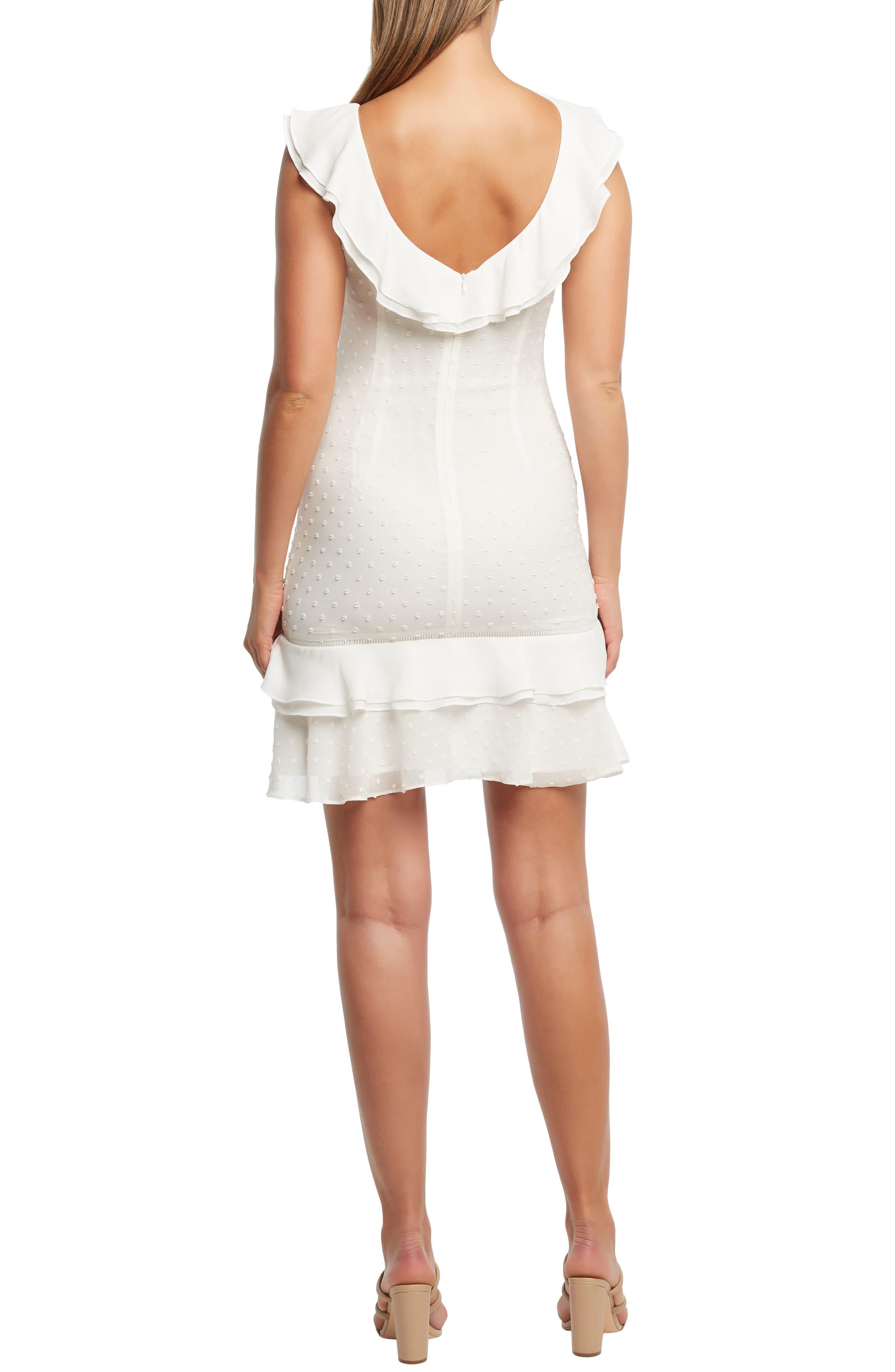 45aa461f Bardot - White Paige Ruffle Sheath Dress - Lyst. View fullscreen