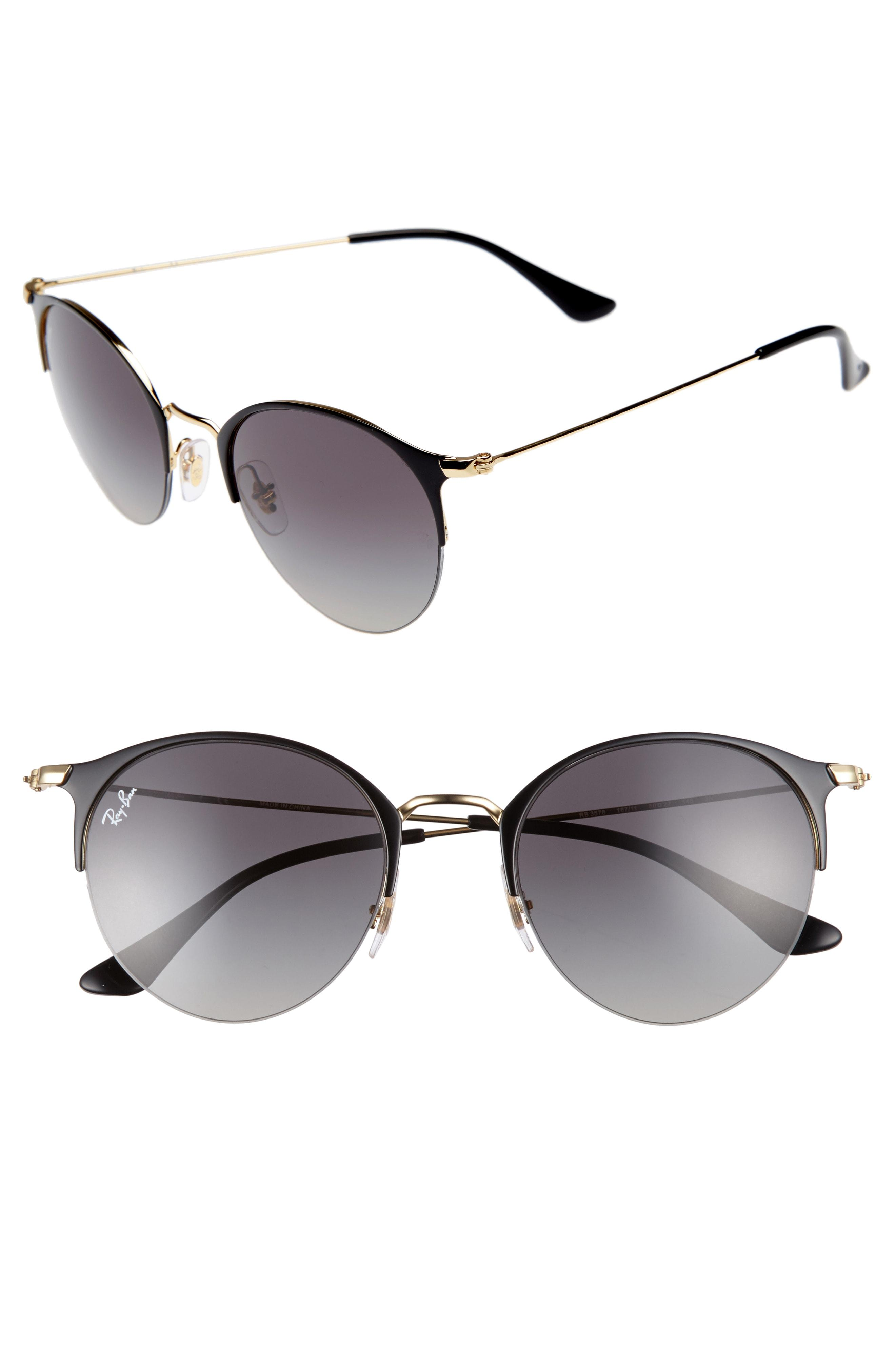 Lyst - Ray-Ban 50mm Blaze Clubmaster Mirrored Sunglasses in Metallic ... a8b7369bf