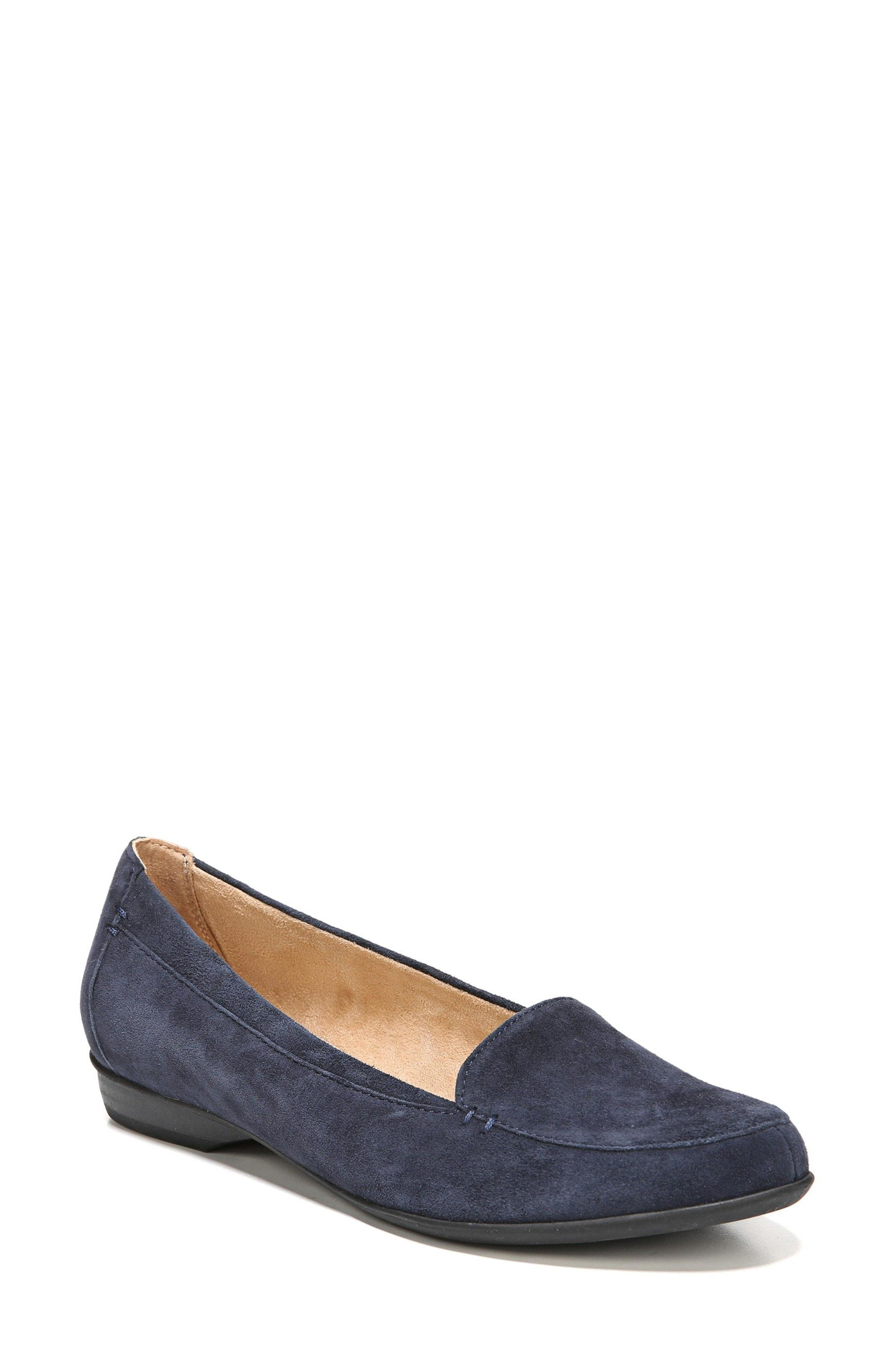 158b6a915df Lyst - Naturalizer  saban  Leather Loafer in Blue