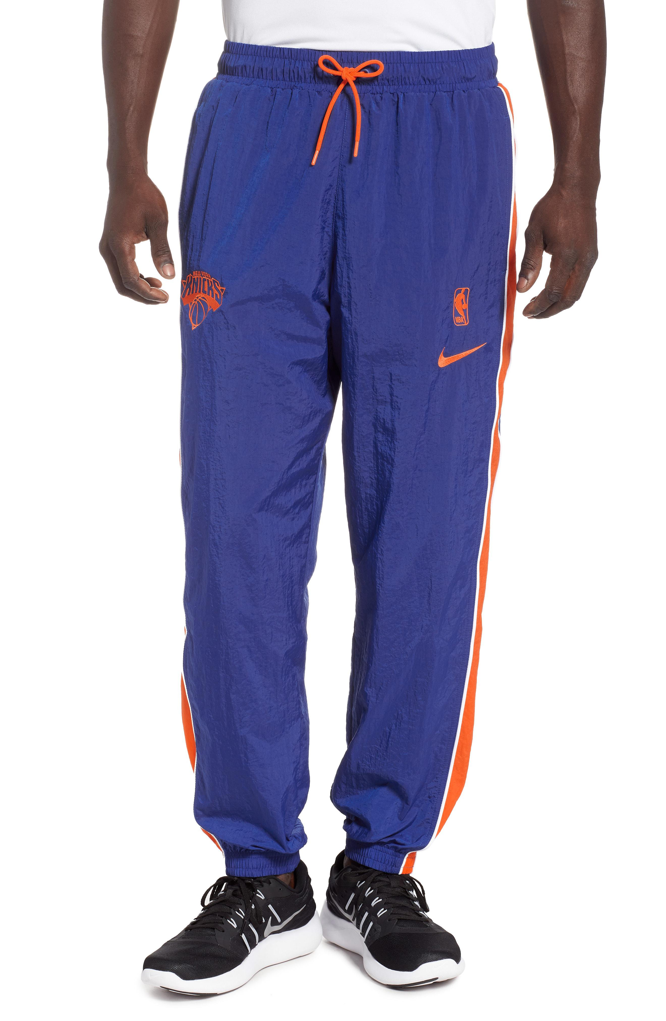 Lyst Nike New York Knicks Courtside Track Pants In Blue For Men