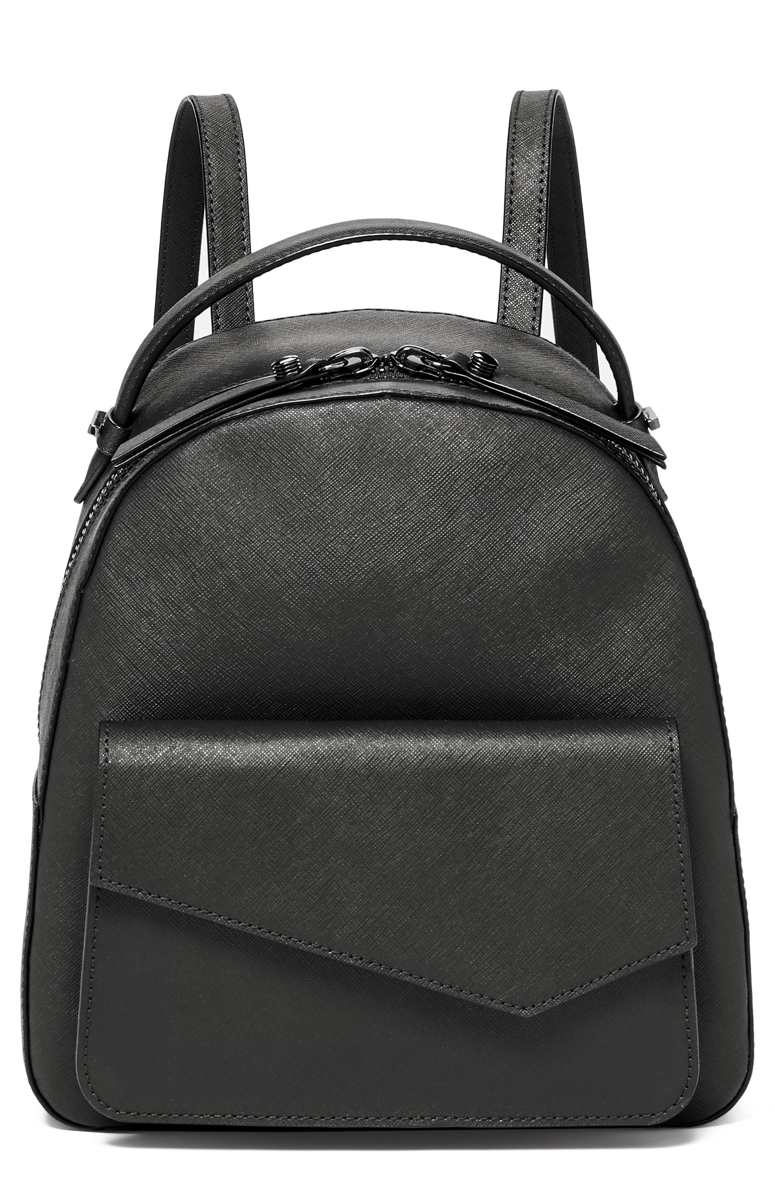 10d17f7b2da4 Lyst - Botkier Cobble Hill Calfskin Leather Backpack in Black - Save 30%