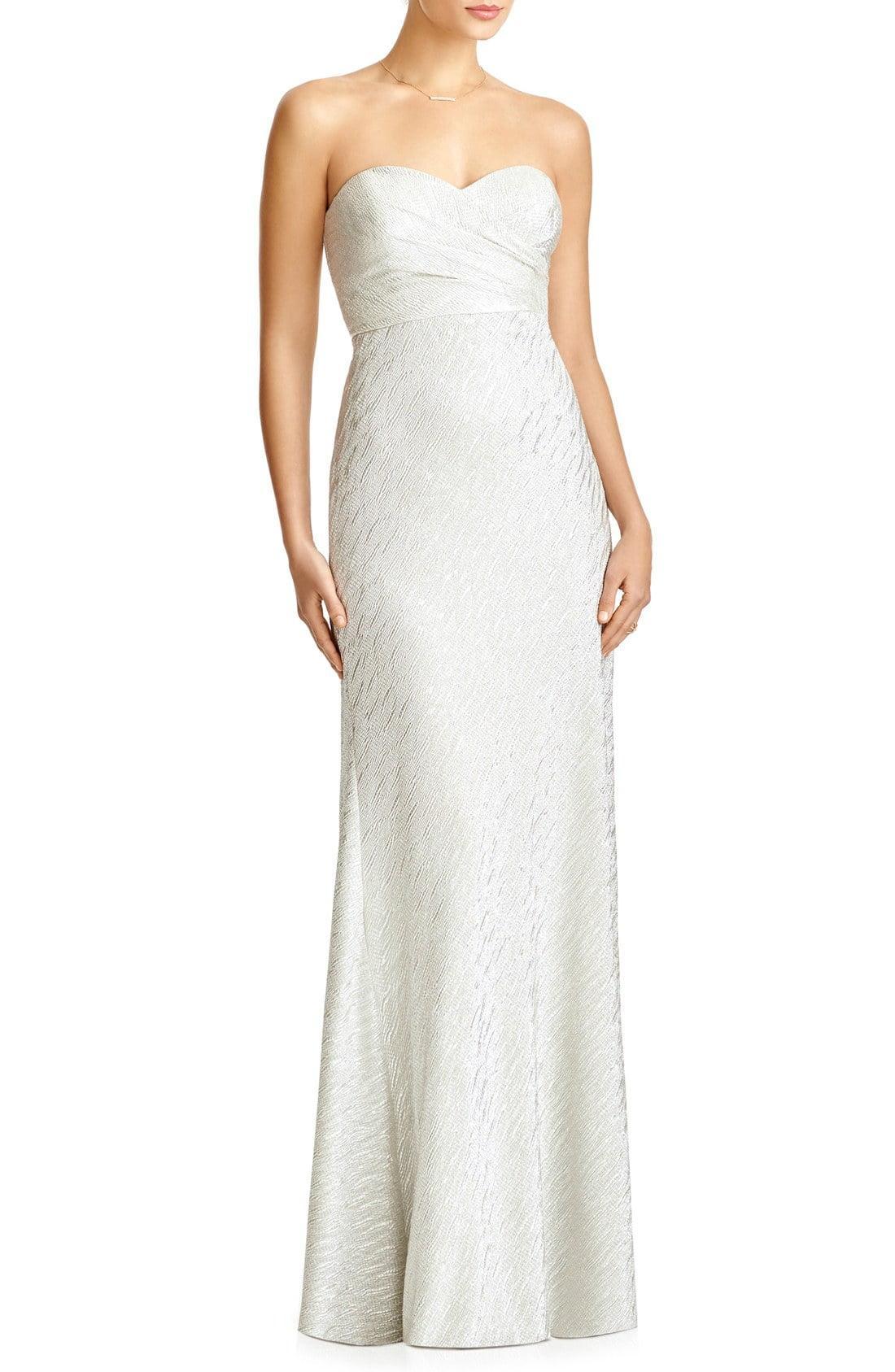 3b4305e336a7 Lyst - Jenny Yoo 'soho' Metallic Strapless Empire Waist Gown in Metallic