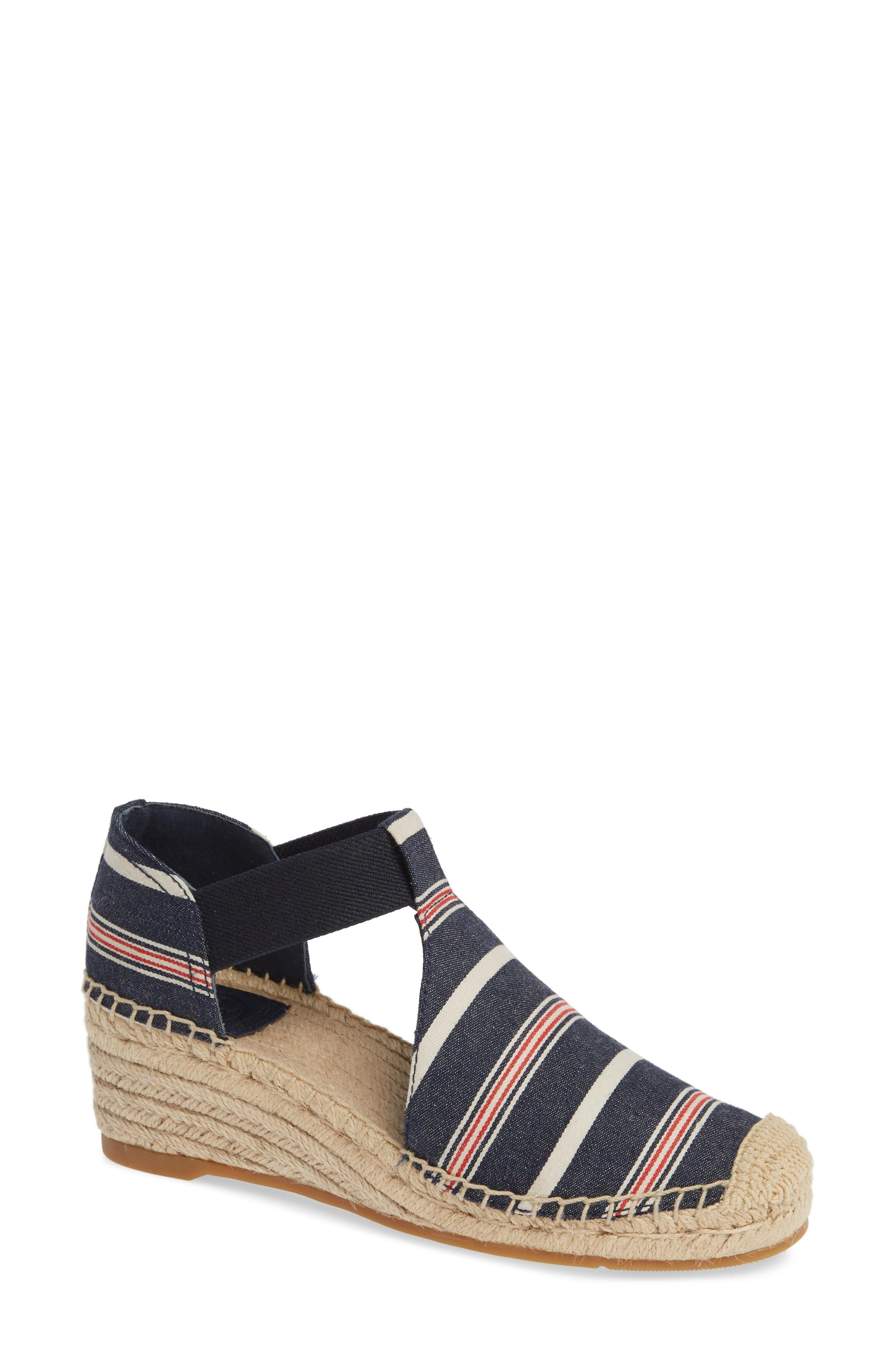 defdd378889 Lyst - Tory Burch Catalina 3 Espadrille Wedge Sandal in Blue