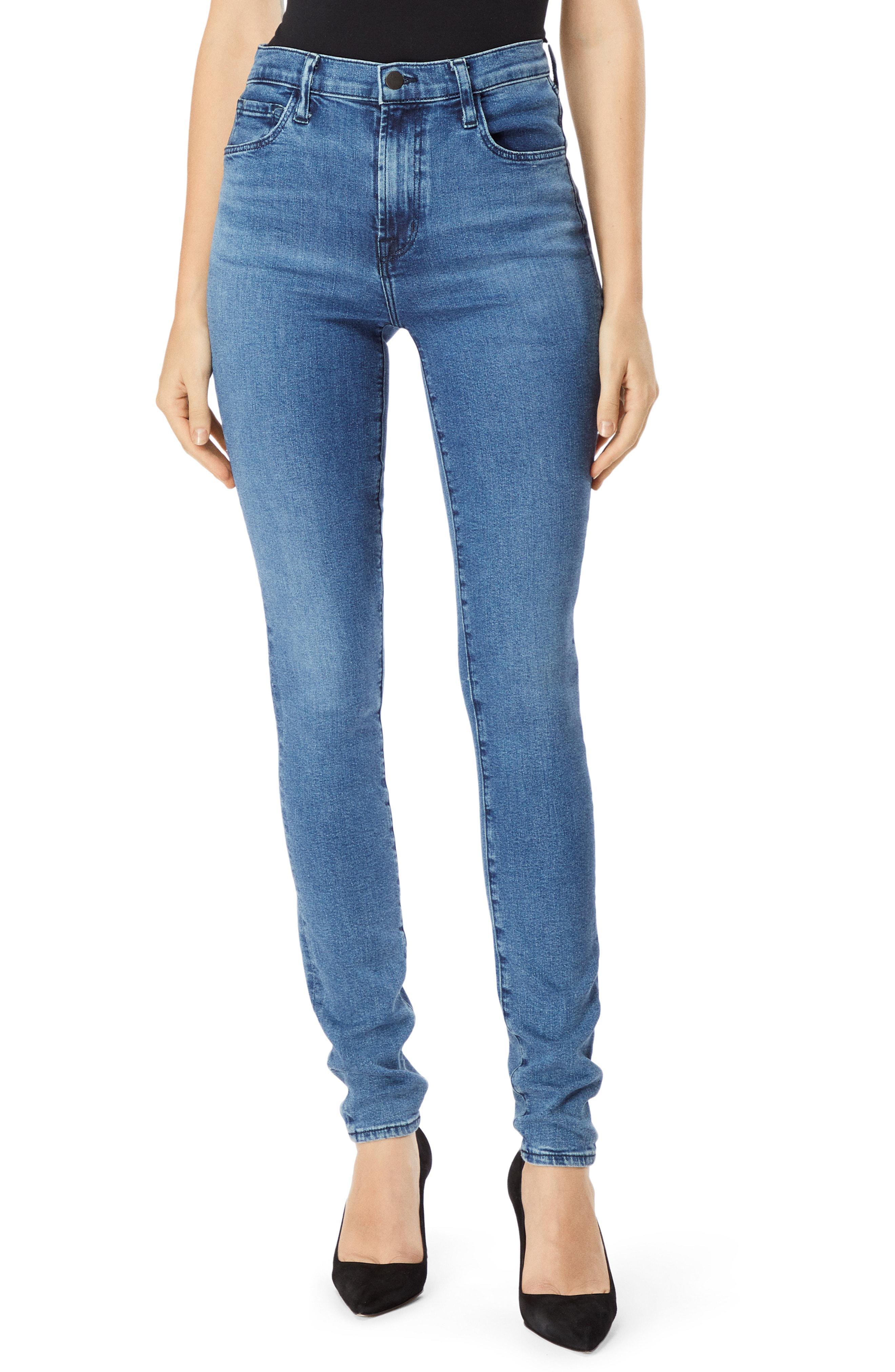93411ccb01936 Lyst - J Brand Carolina Super High Waist Skinny Jeans in Blue