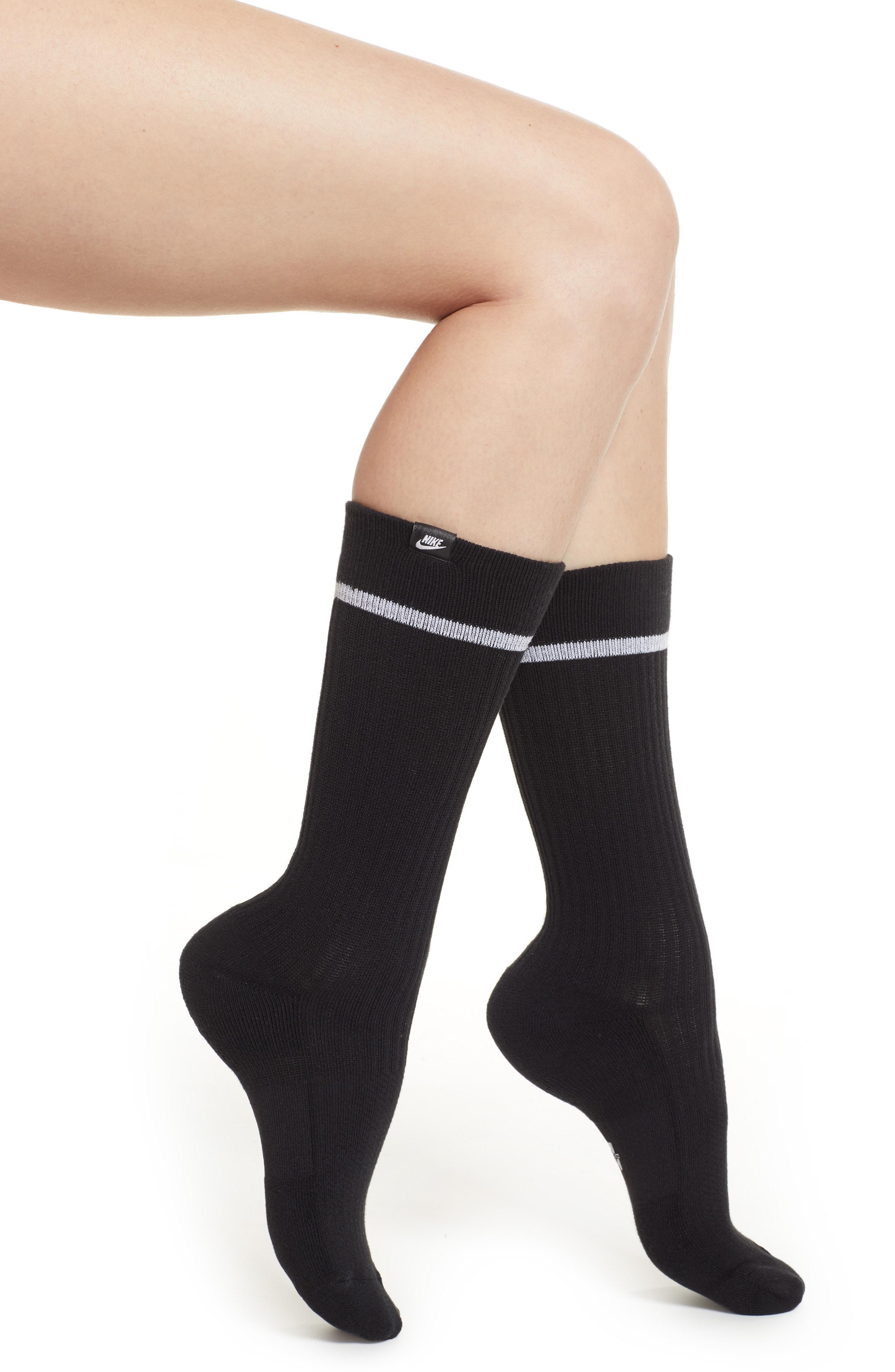 232056a374 Lyst - Nike 2-pack Snkr Sox Essential Crew Socks in Black
